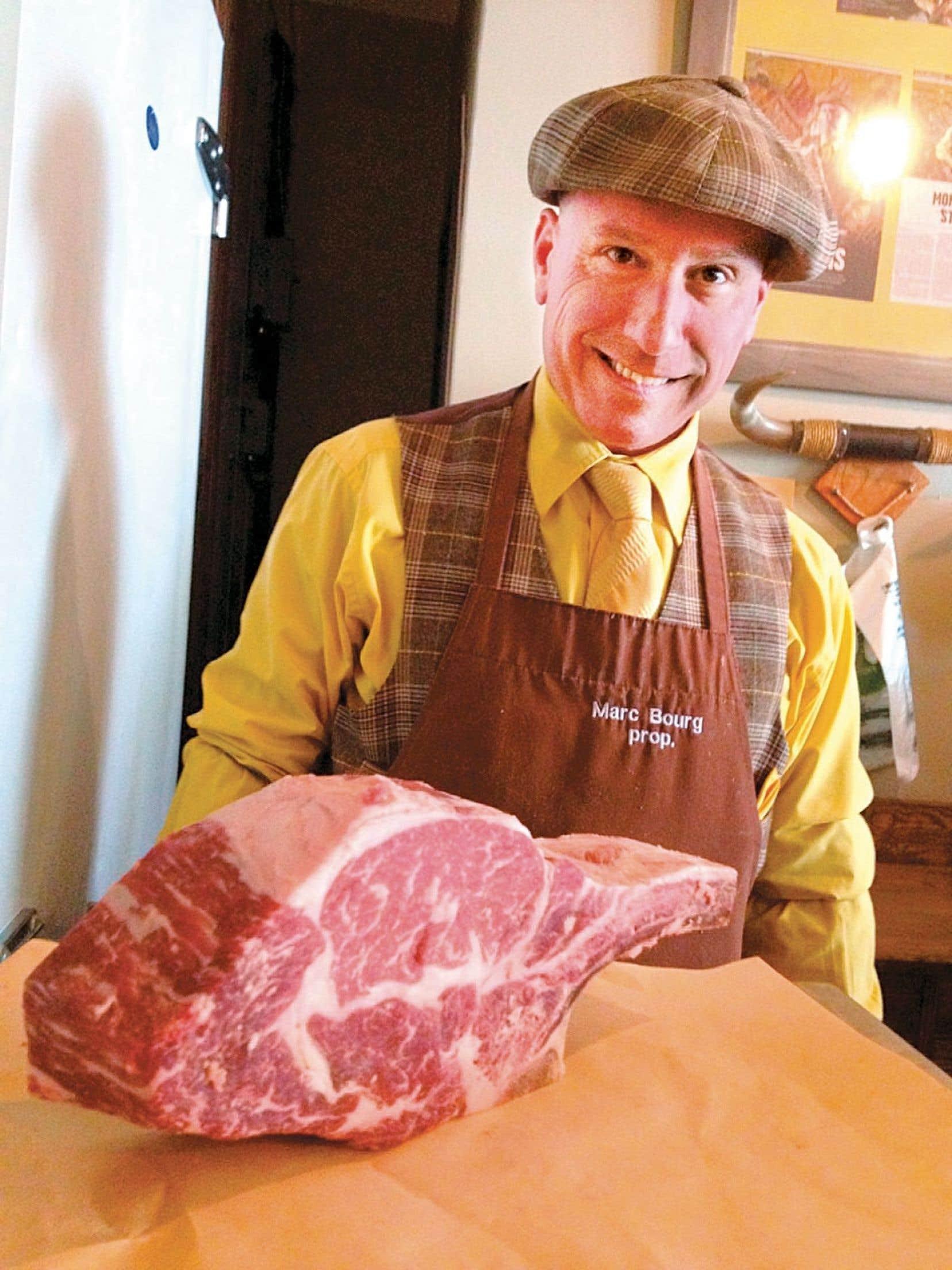 Le maître boucher Marc Bourg, de la boucherie Le Marchand du Bourg à Montréal.