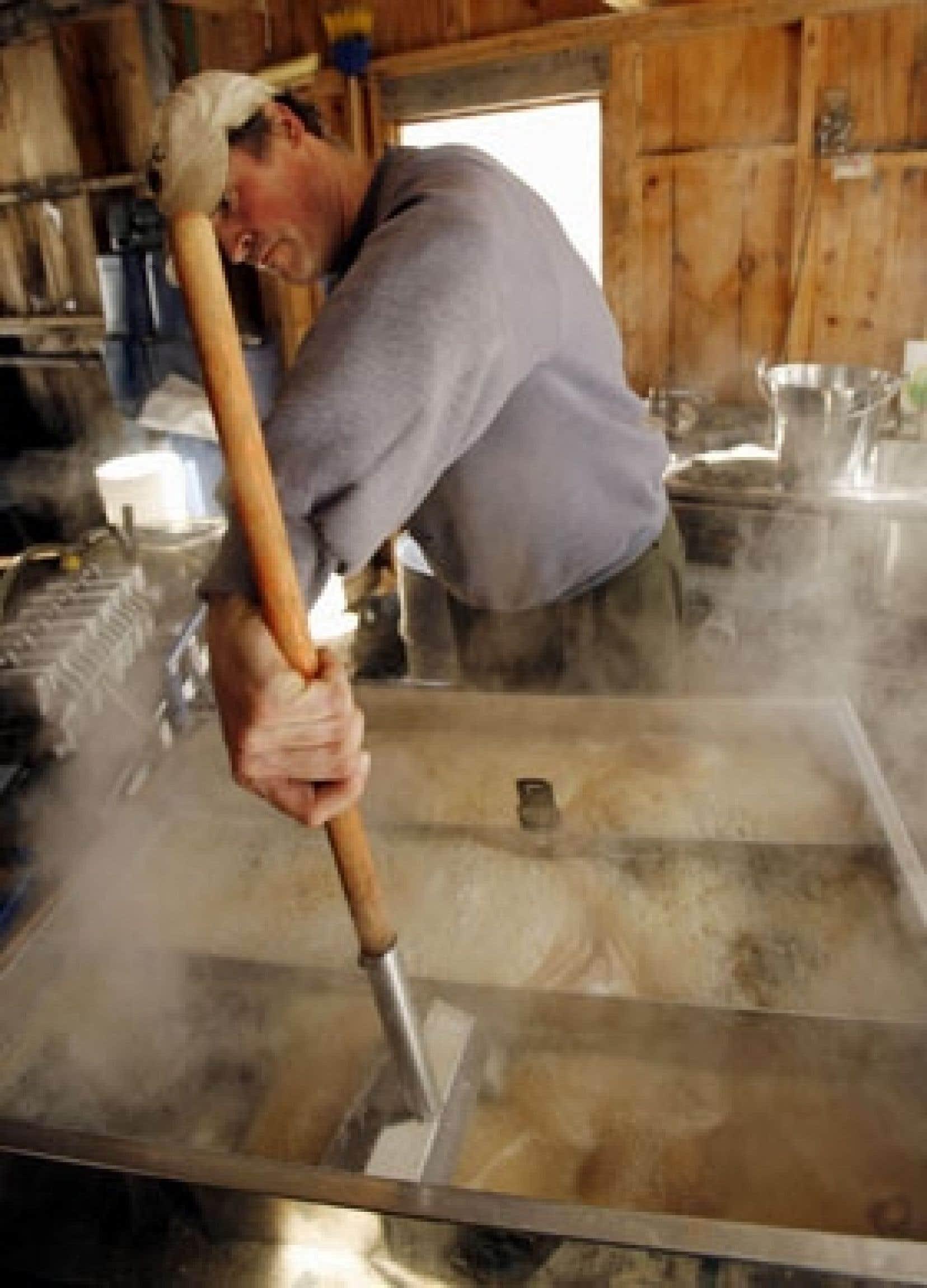 La fabrication du sirop d'érable. Les producteurs cherchent maintenant à exploiter l'érable en dehors du cadre traditionnel des repas de cabanes à sucre.