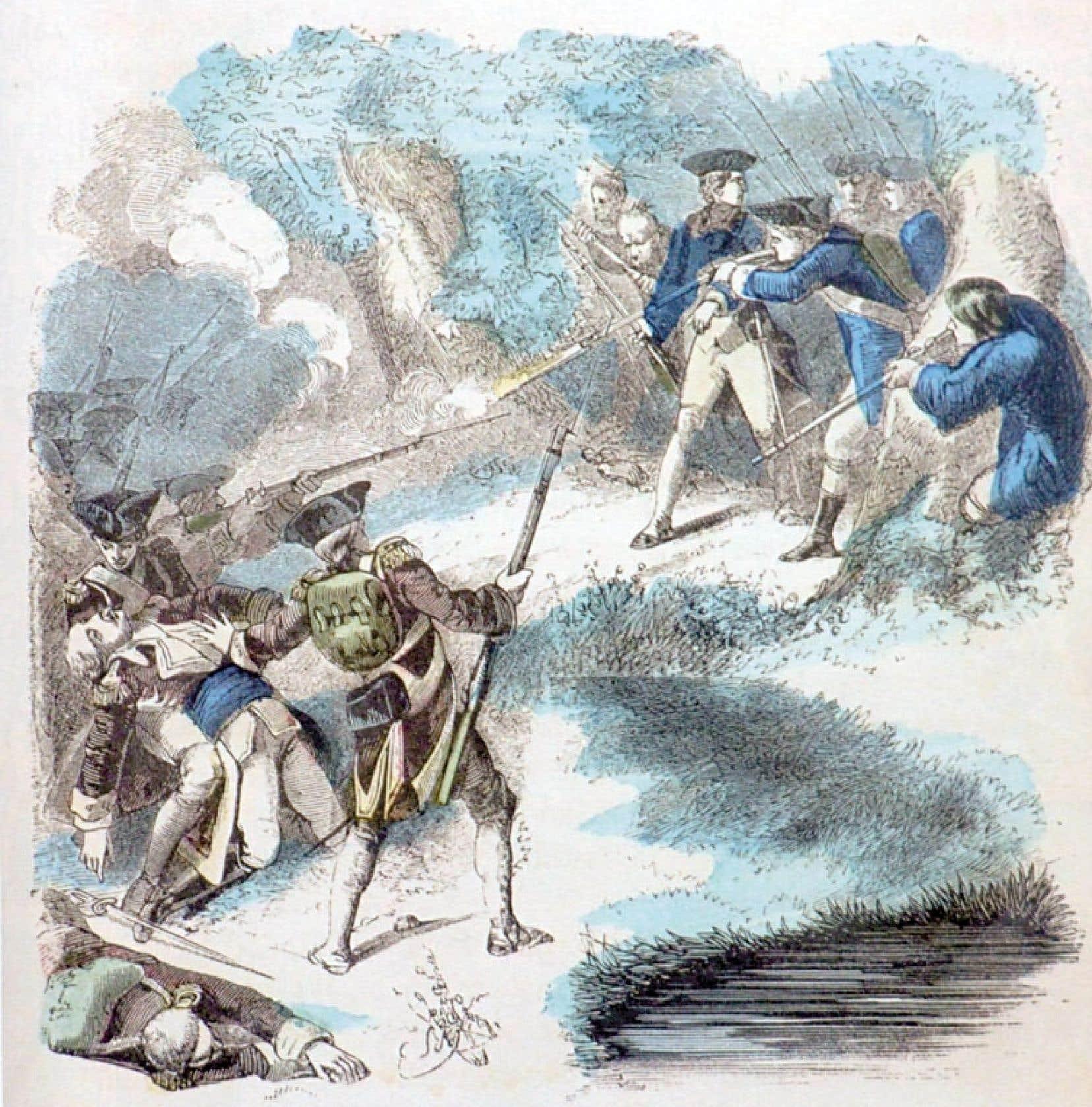 Gravure tirée de The Illustrated Life of George Washington, 1859.