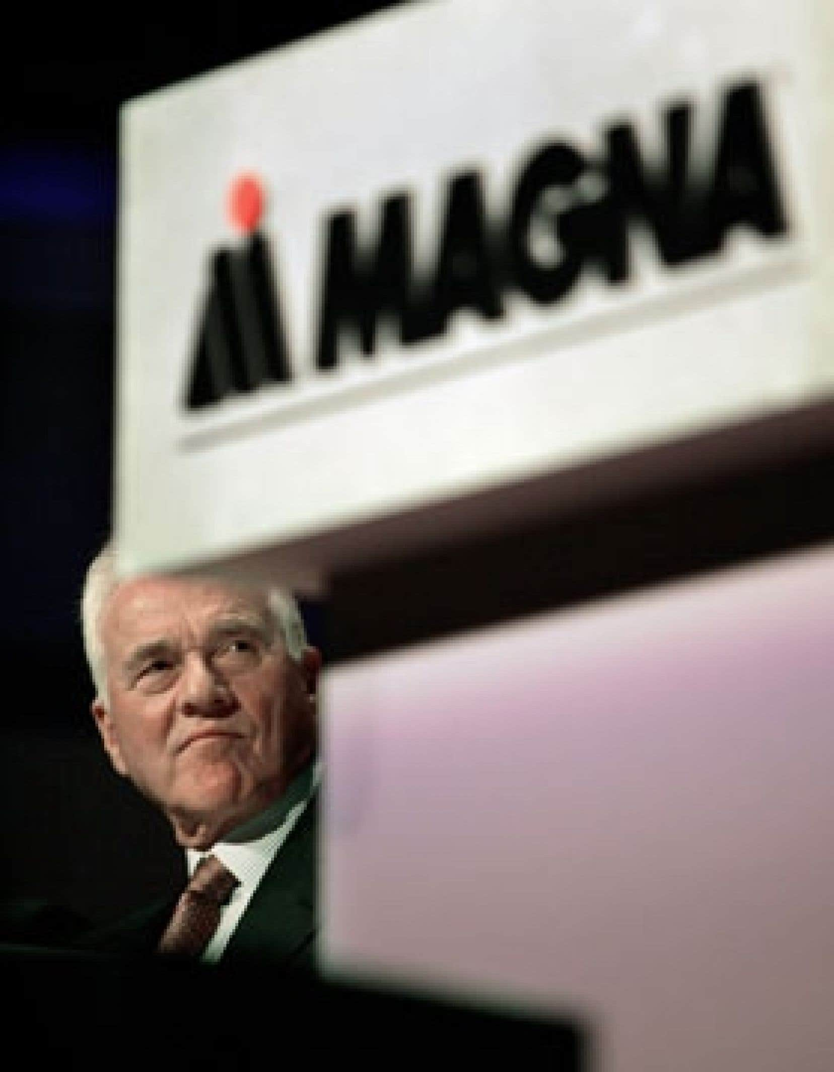 Frank Stronach, le président de Magna International