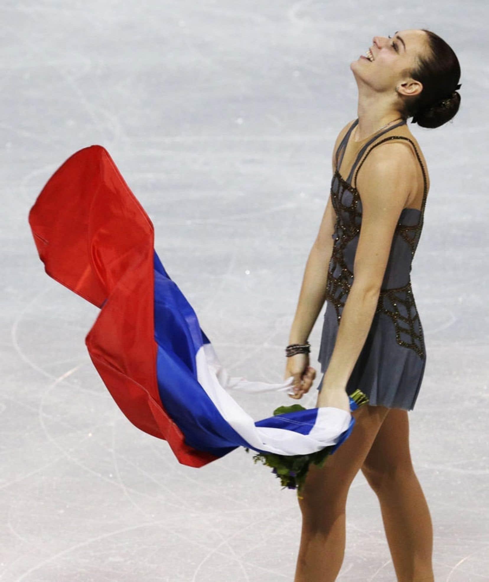 Adelina Sotnikova a fait le bonheur des Russes venus l'encourager.