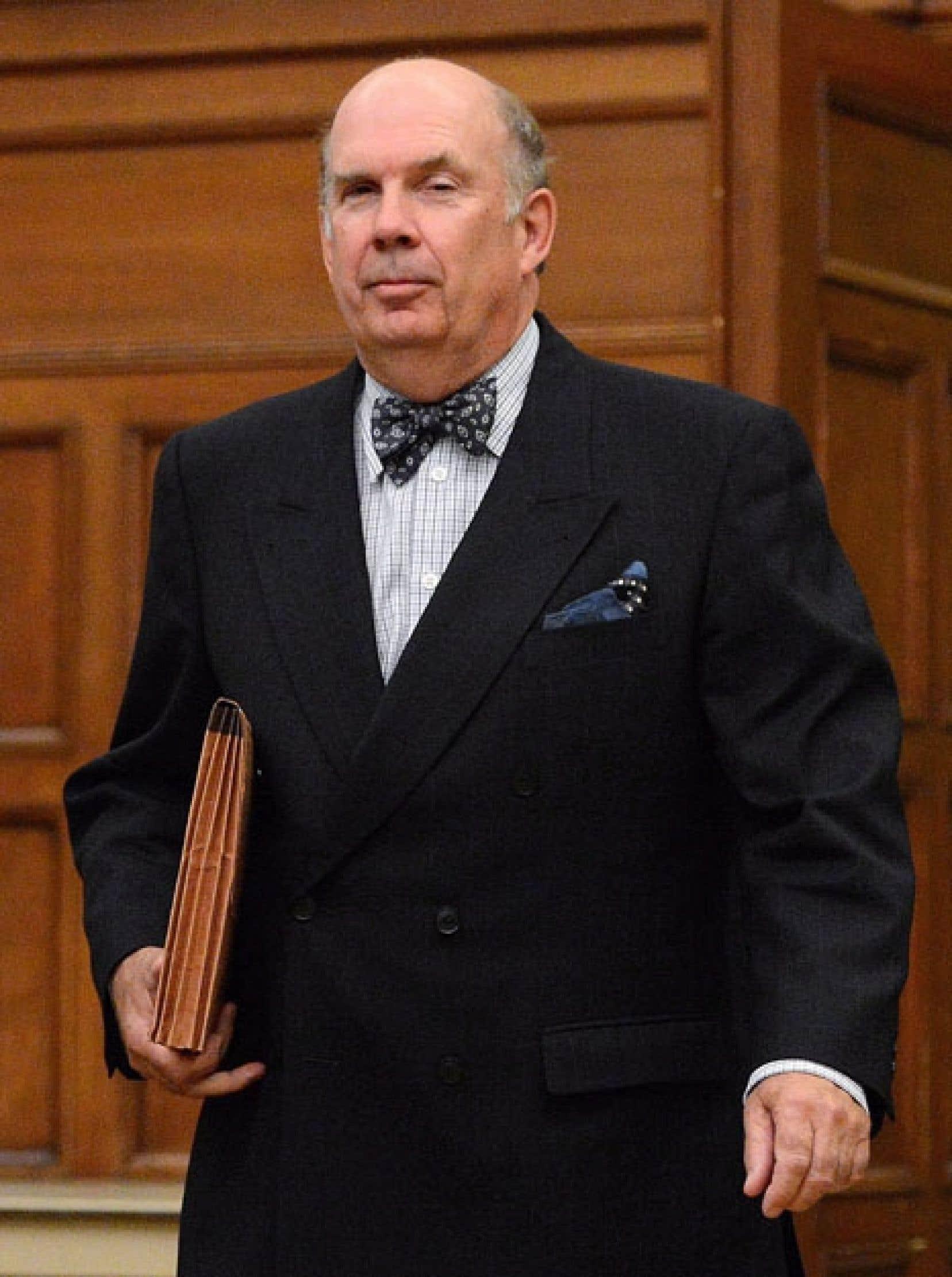 Le juge Marc Nadon à Ottawa, en octobre dernier, lorsque le premier ministre Stephen Harper l'avait nommé à la Cour suprême du Canada.