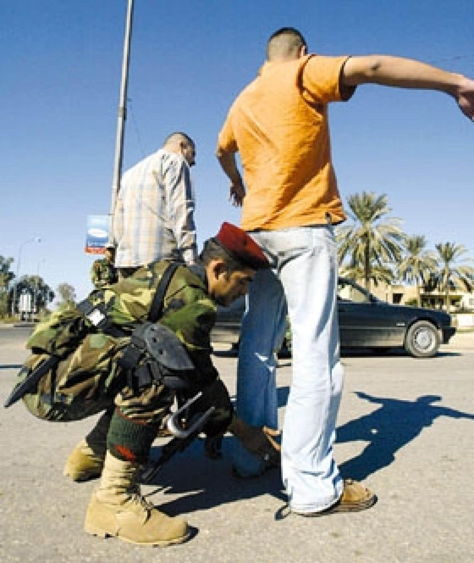 Contrôle policier à Bagdad