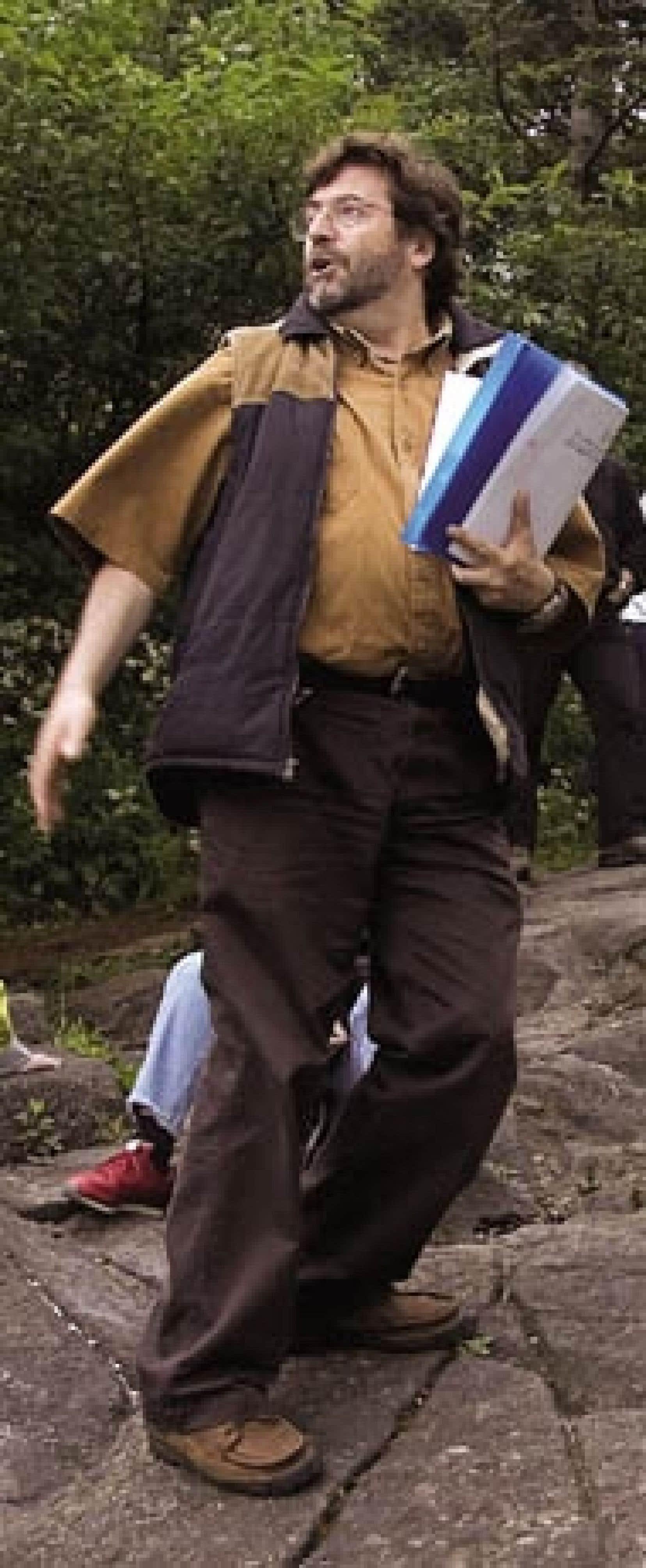 Bernard Vallée en action sur le mont Royal