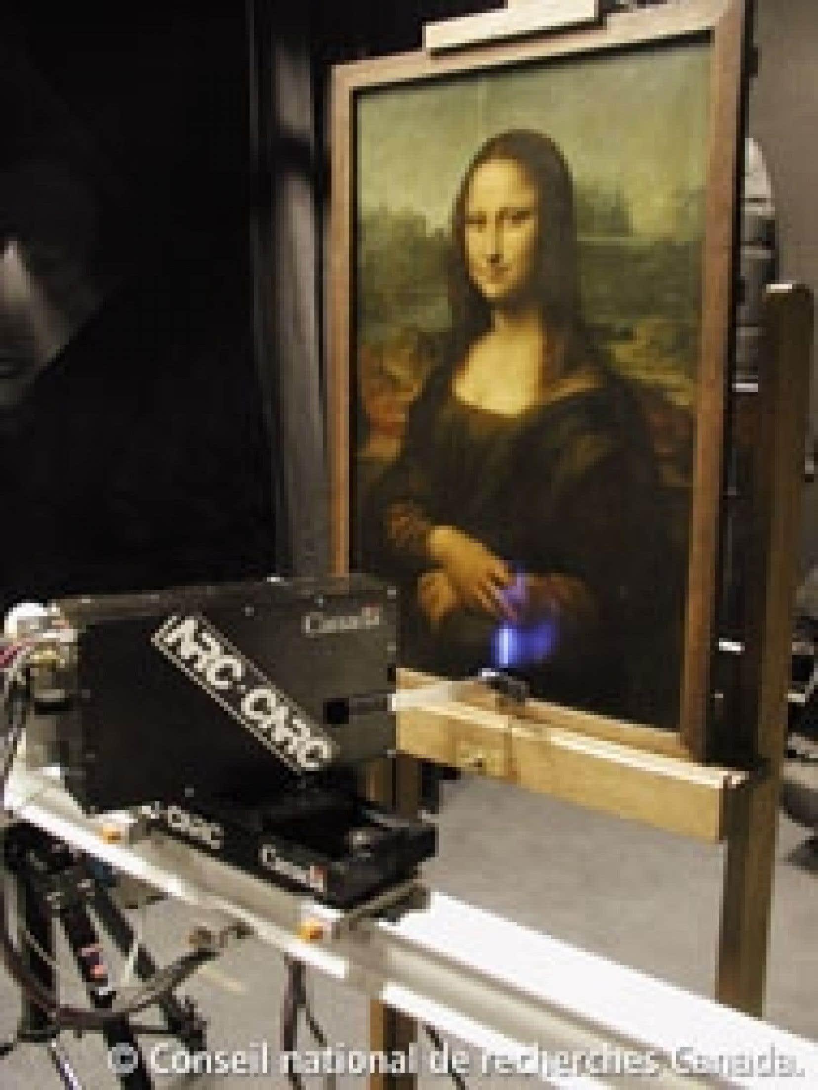 Le scanner laser 3D qui a permis de révéler quelques secrets de la Joconde. Source: CNRC