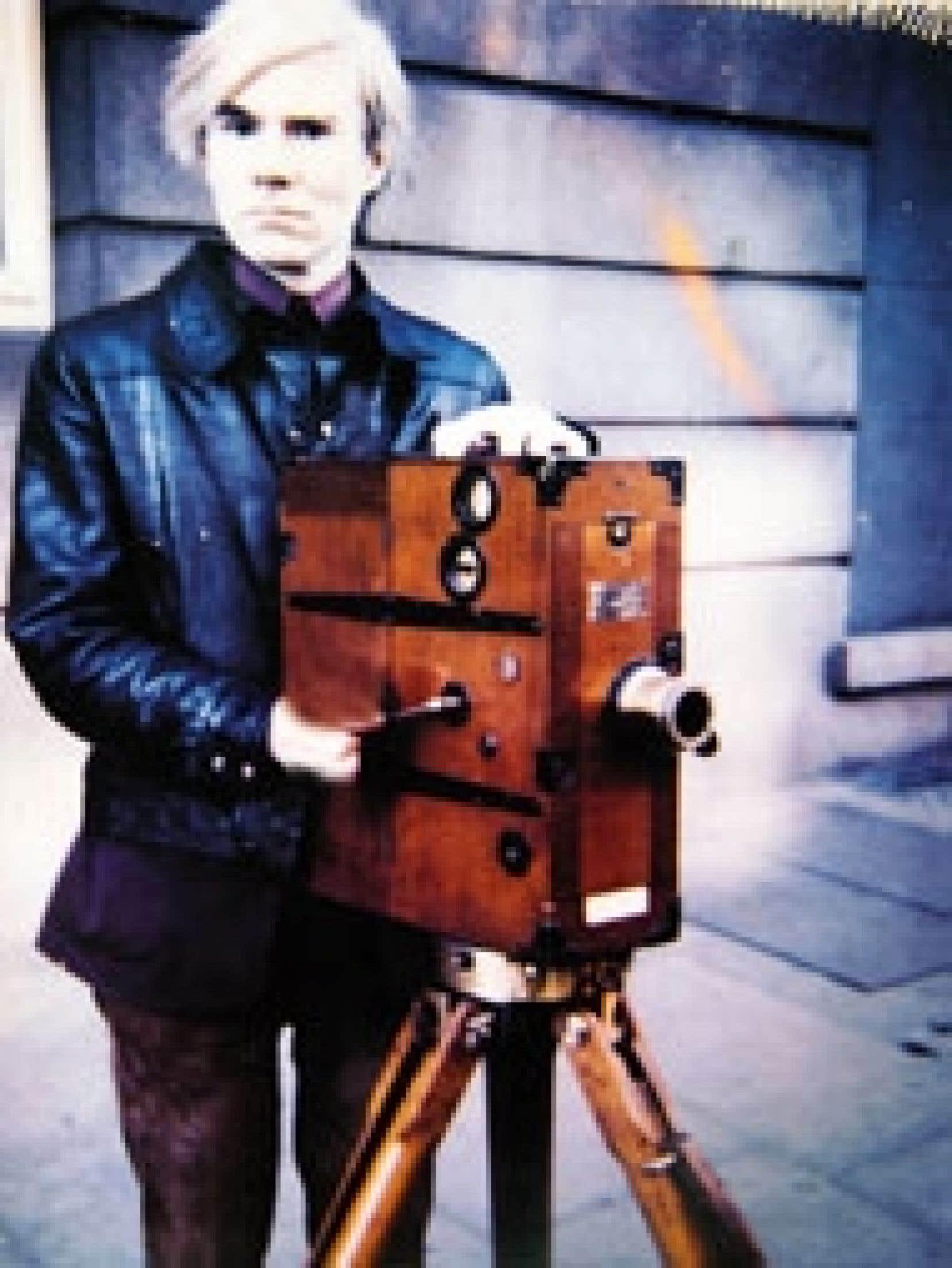 Polaroïd de Warhol avec une vieille caméra, 1960. Source: Phaidon