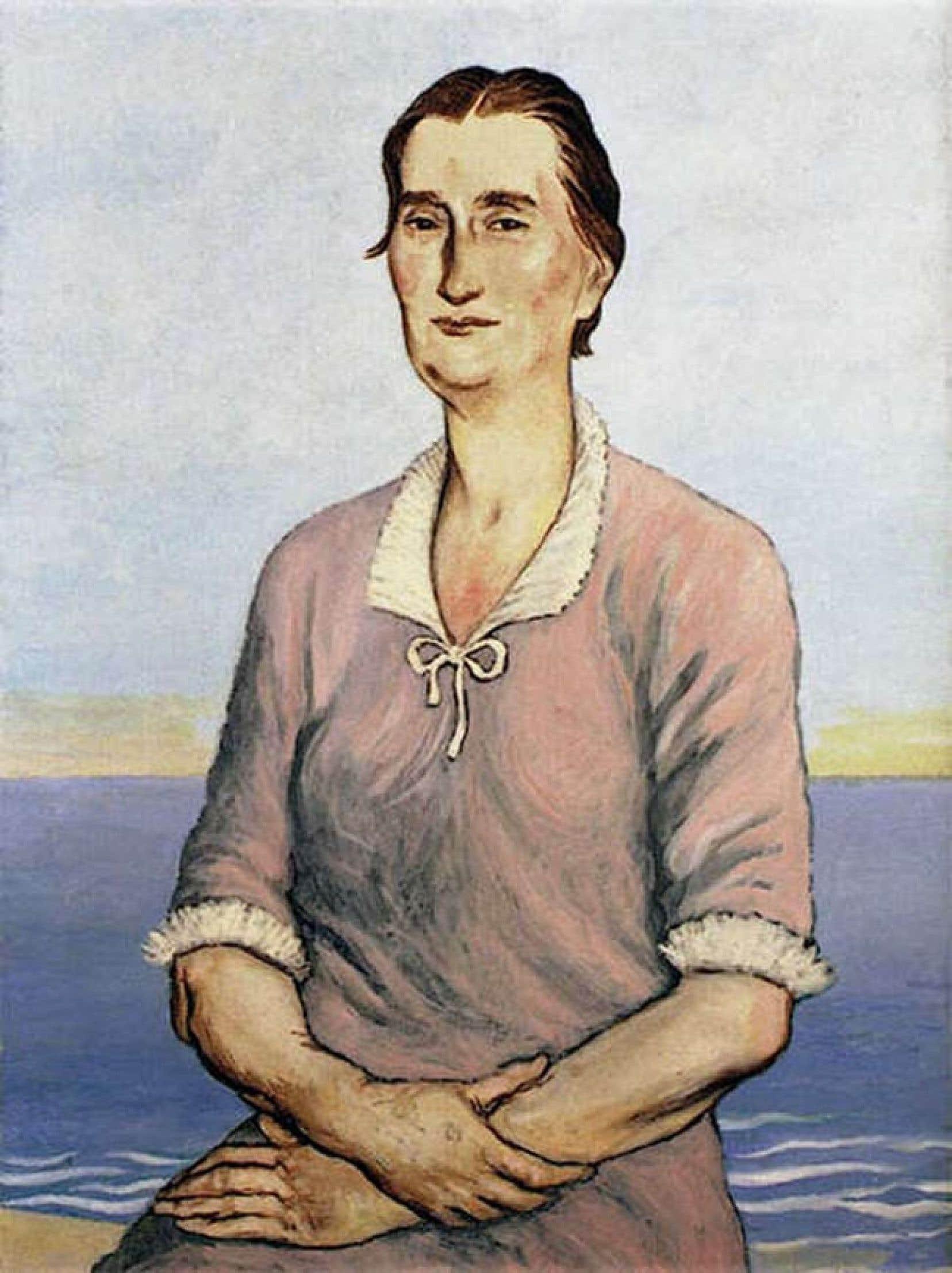 Céleste Albaret, Jean-Claude Fourneau, 1957, huile sur toile