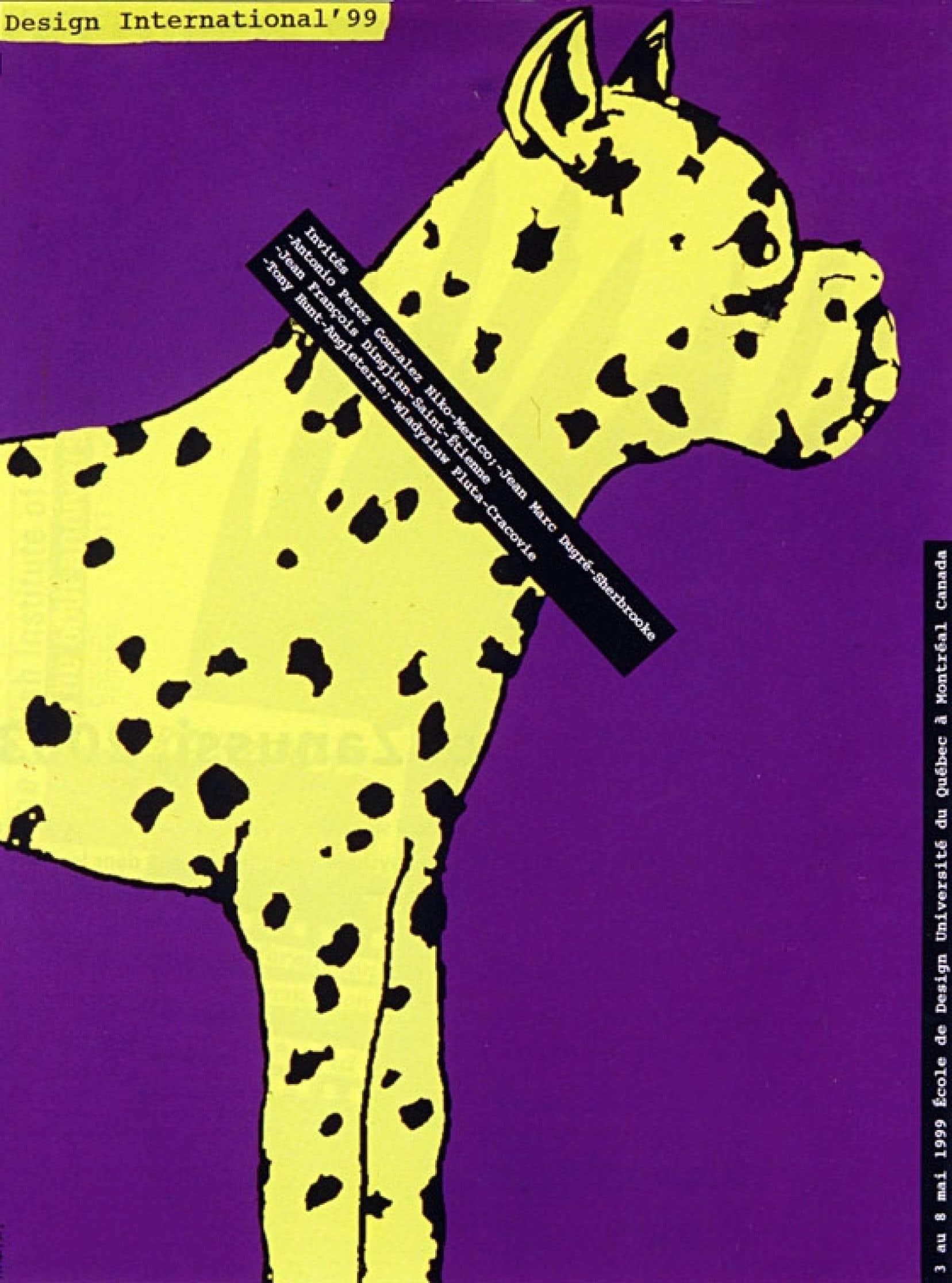 Affiche pour Design International '99, réalisée par sérigraphie