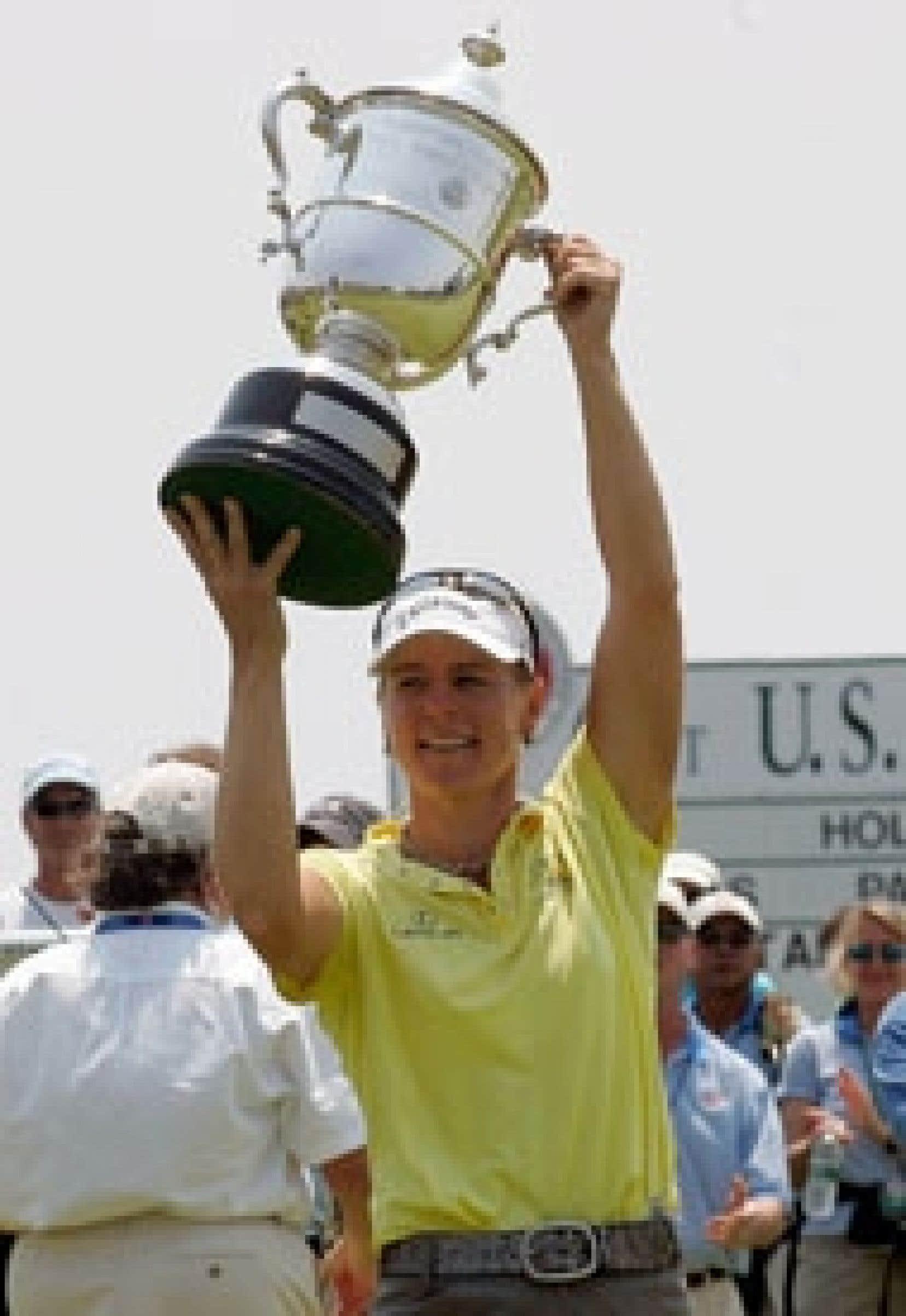 Annika Sorenstam semblait fière de sa victoire hier, après avoir remporté l'Omnium féminin des États-Unis.