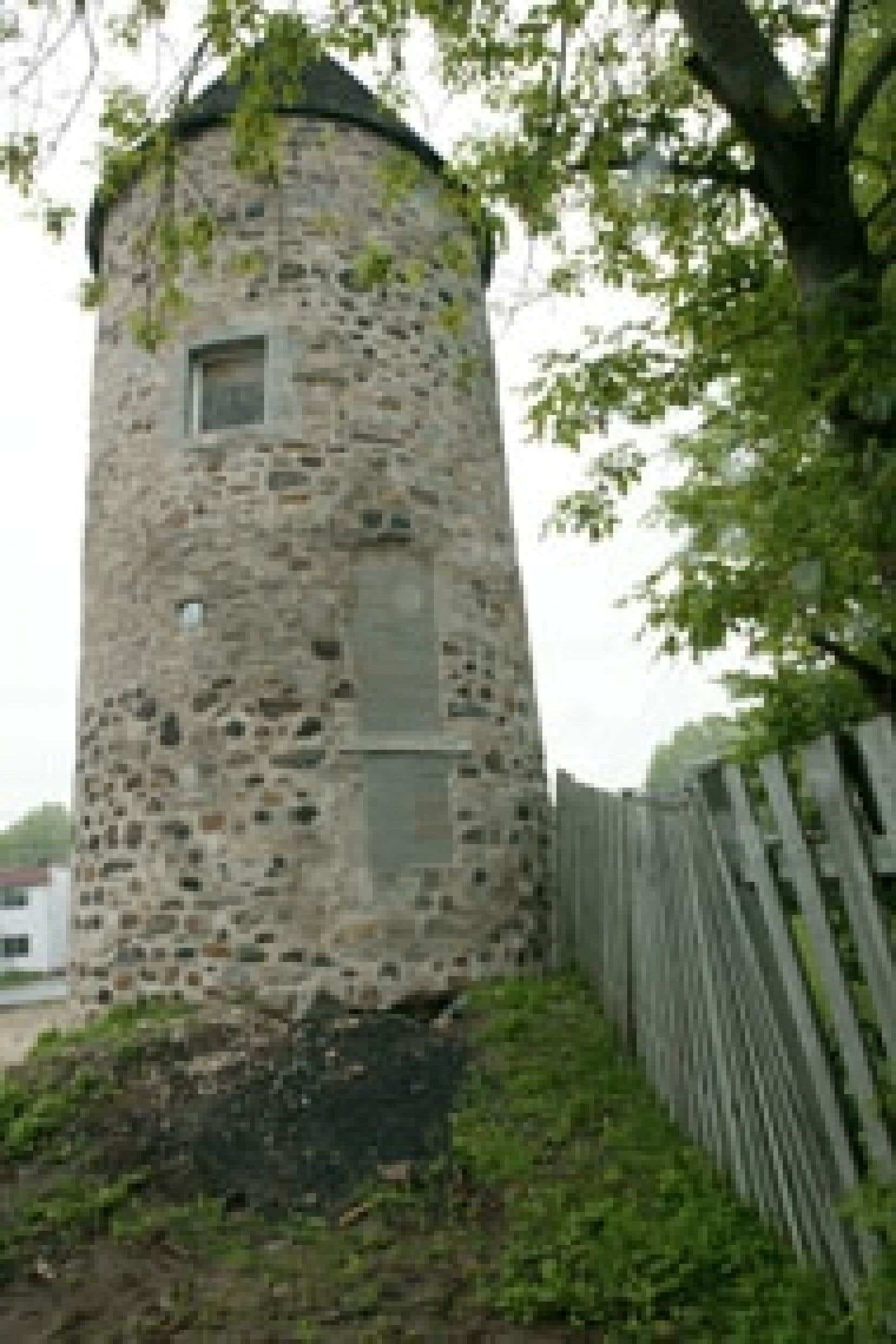 Ce sont les Sulpiciens, seigneurs de l'île de Montréal, qui ont fait ériger le moulin par le maçon Jean-Baptiste Larose, en 1719, sur la terre d'André Poudret dit Lavigne.