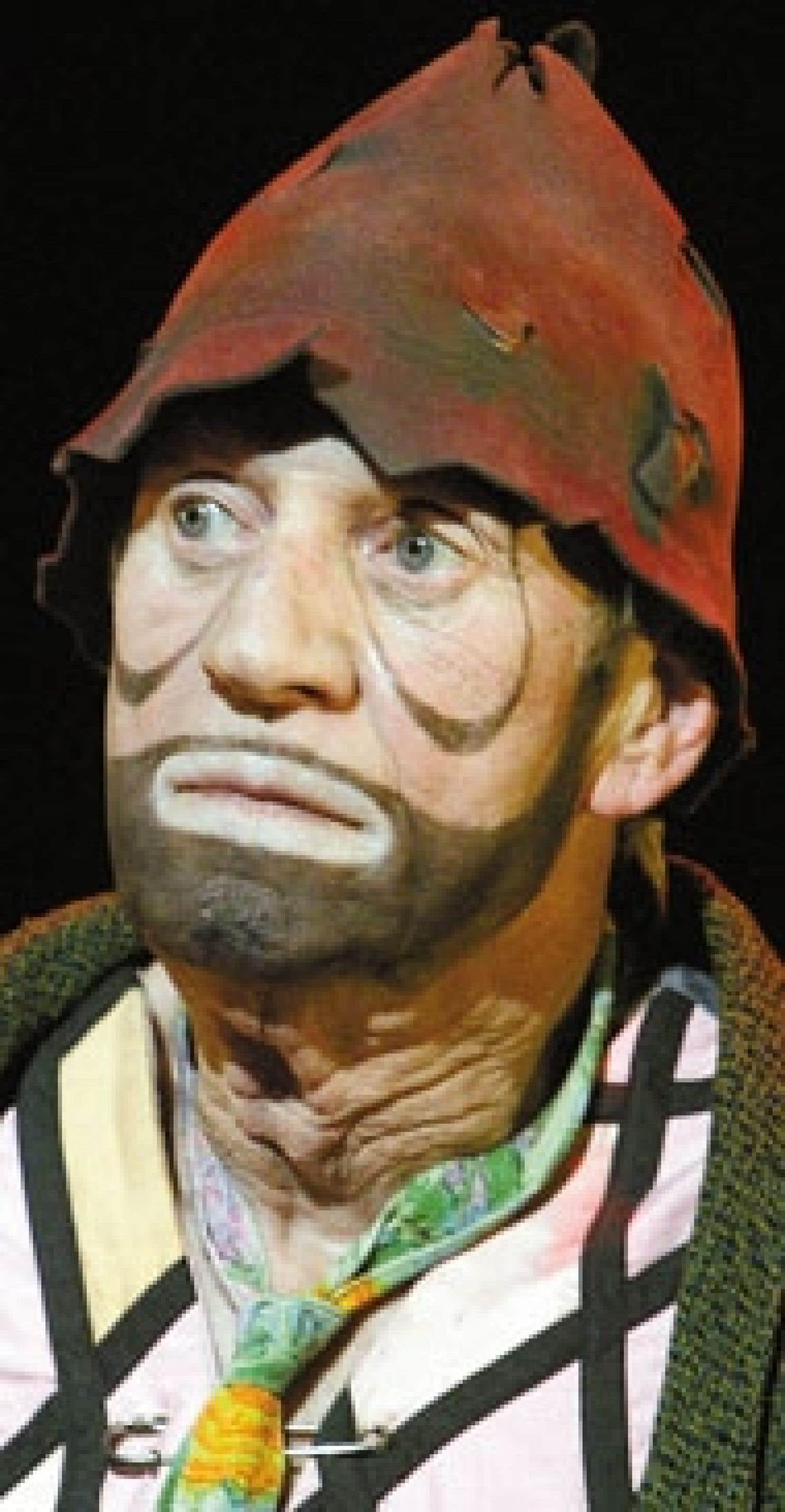 Le clown Sol dans le plus récent spectacle de Marc Favreau, Prêtez-moi une oreille à tentative, en février dernier, au Théâtre Gesù. Une nouvelle série de représentations était prévue pour février 2006.