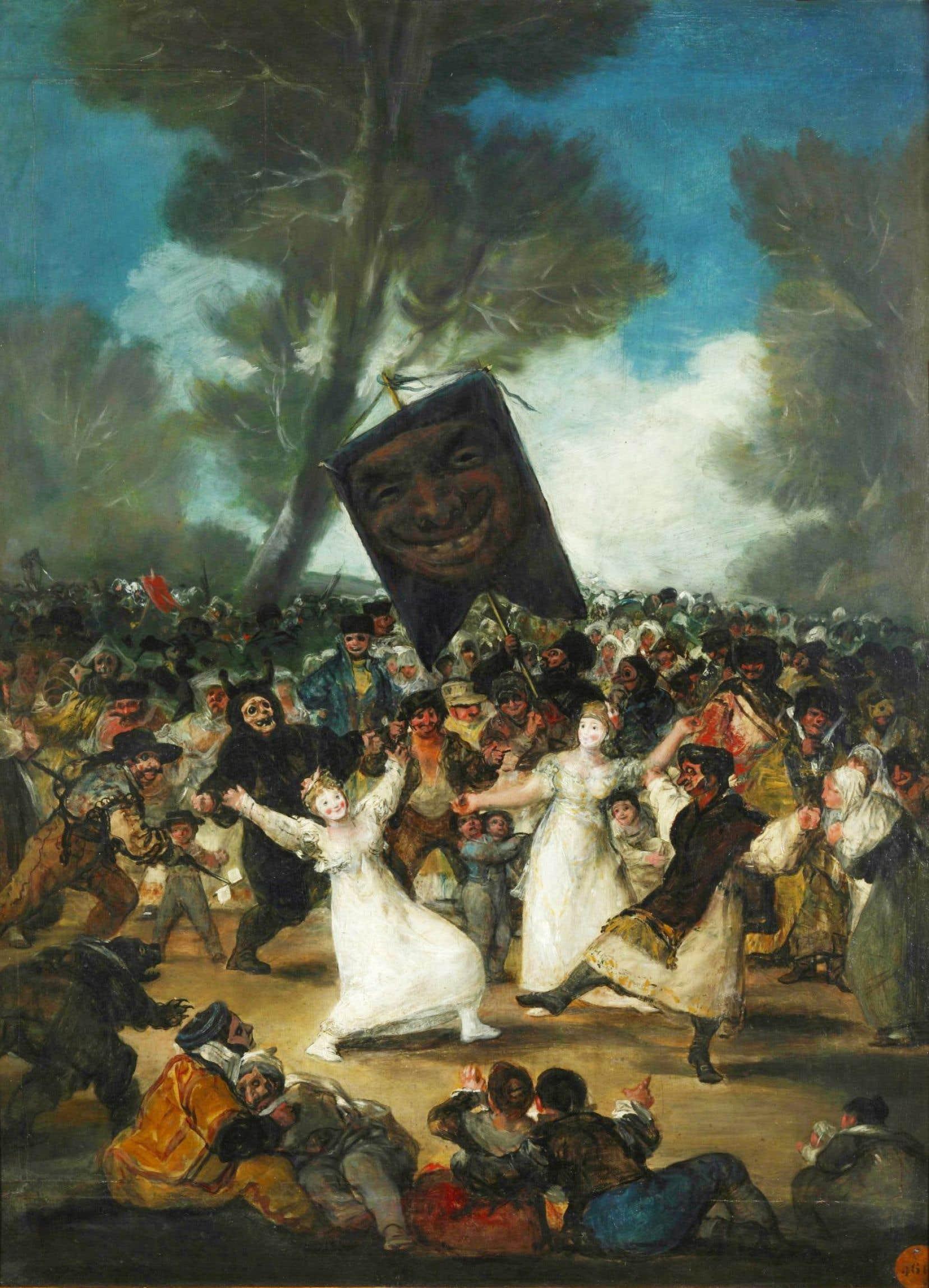«L'enterrement de la sardine», œuvre de Francisco de Goya, est exposée à l'Académie royale des beaux-arts de San Fernando de Madrid.