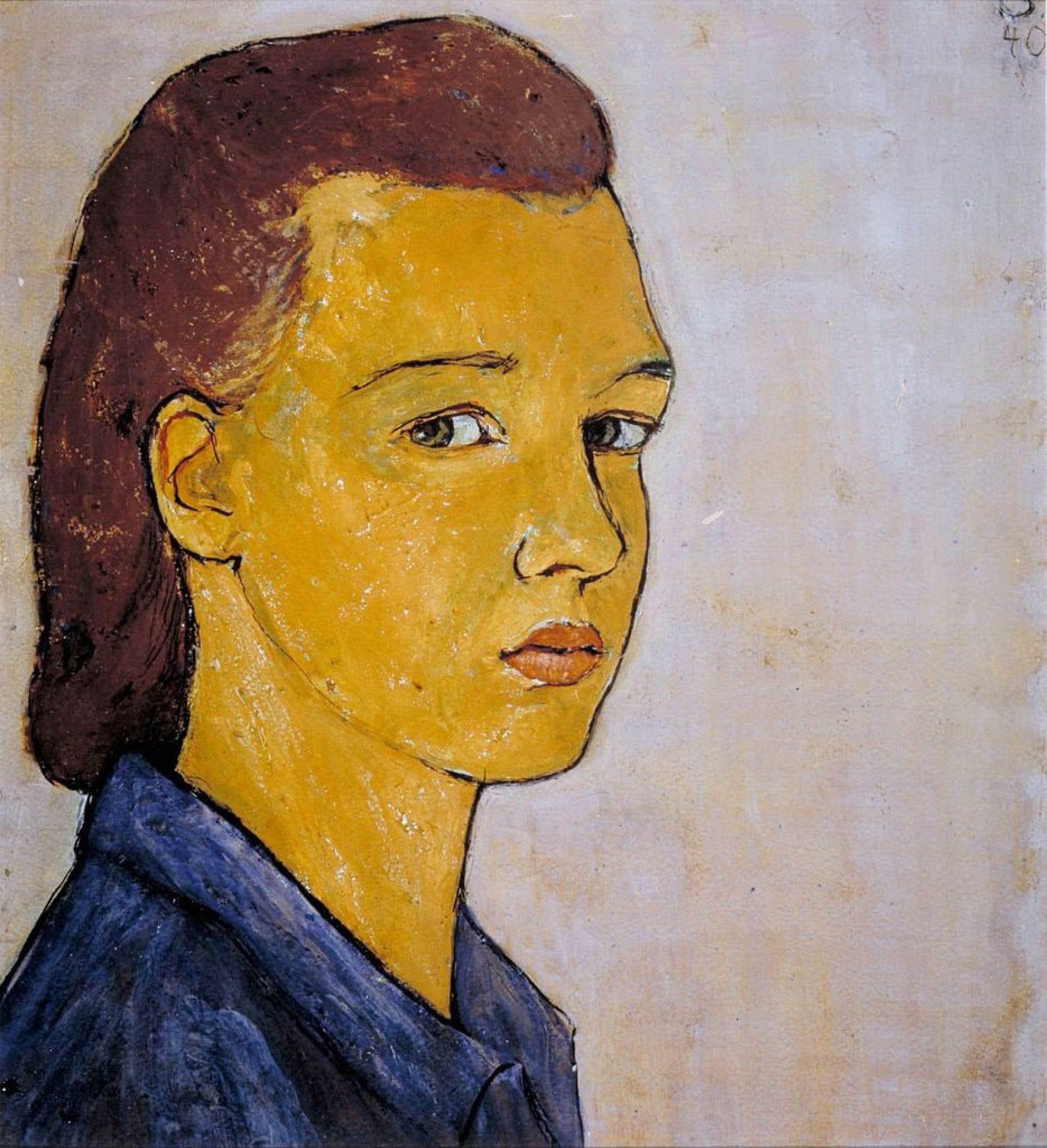 Autoportrait de Charlotte Salomon, daté de 1940
