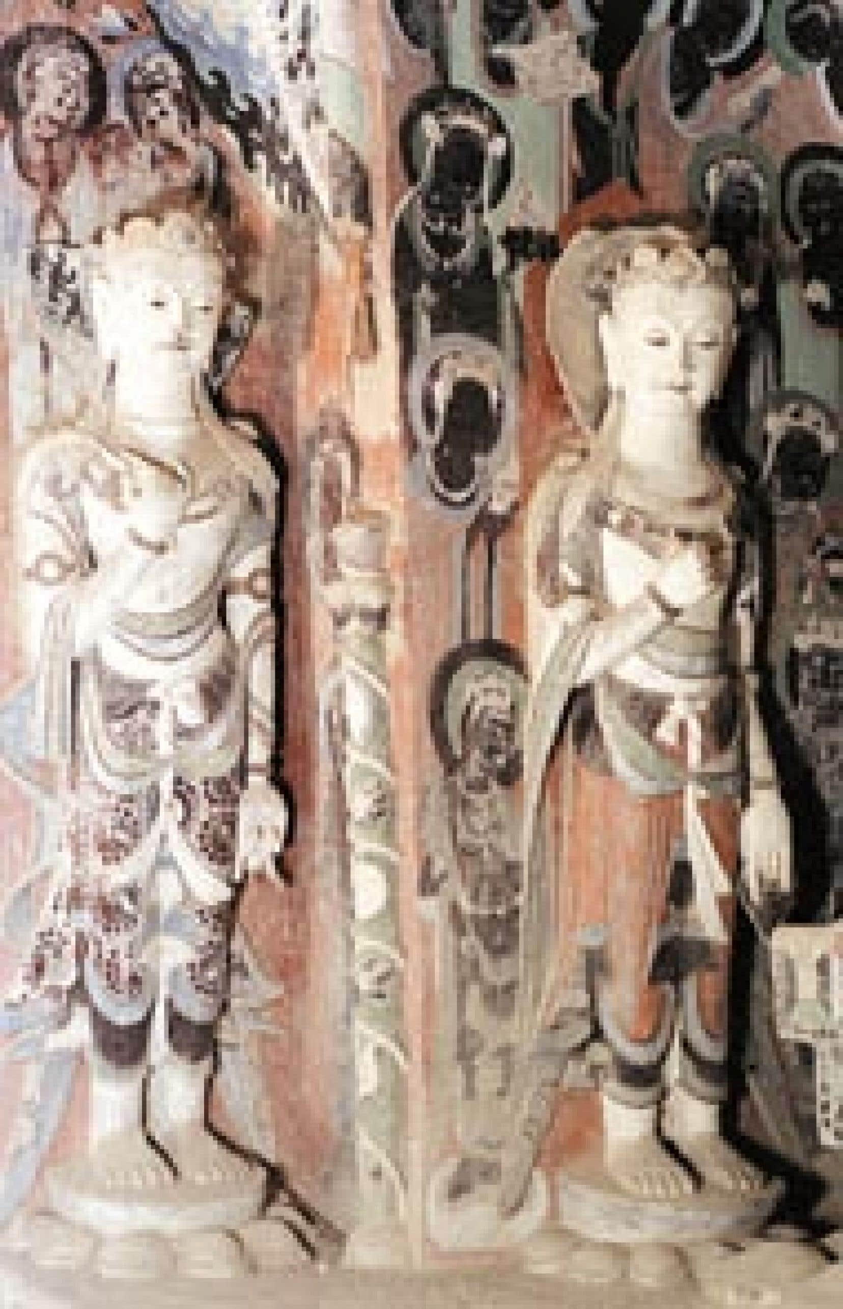 Les grottes des Mille Bouddhas, à Dunhuang, dans le désert de Gobi. L'une des merveilles du passé, objet d'une grande fierté nationale en Chine classé Patrimoine mondial de l'UNESCO. — Newscom