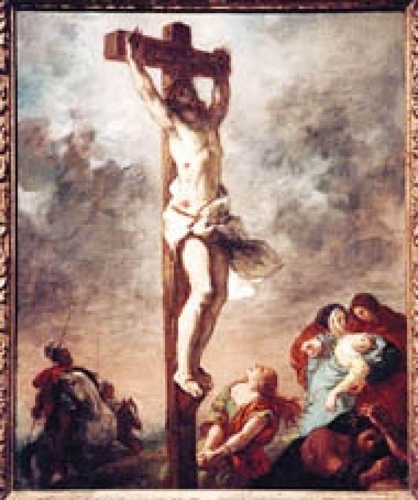 Le Christ en croix, du peintre français Eugène Delacroix, photographié en avril 2003 au Grand Palais, à Paris. Beaucoup de jeunes Français seraient incapables d'interpréter ce tableau.