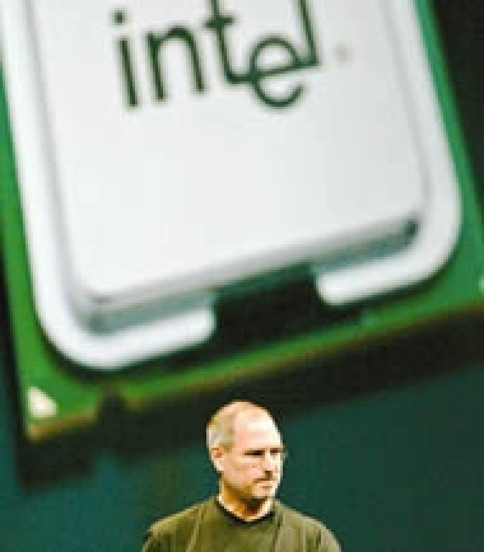 Le p.-d.g. d'Apple, Steve Jobs, a confirmé hier les informations qui circulaient dans la presse américaine: son association avec IBM prend fin, et les ordinateurs Mac seront dès l'année prochaine équipés de puces Intel.