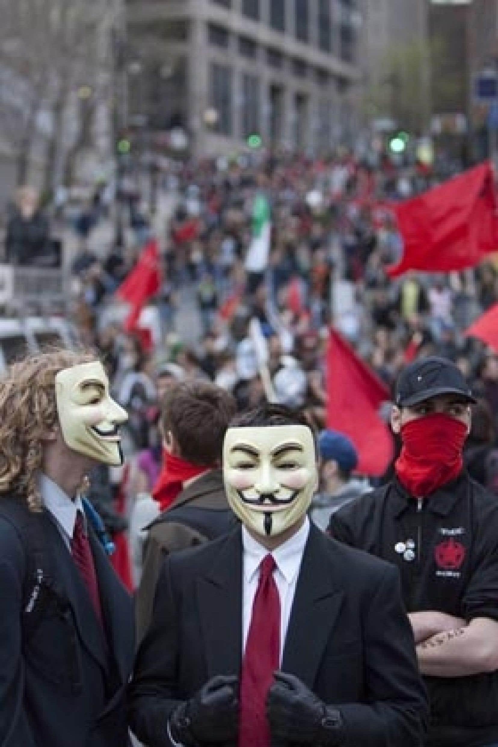 Les manifestants ont tourné en dérision les capitalistes.