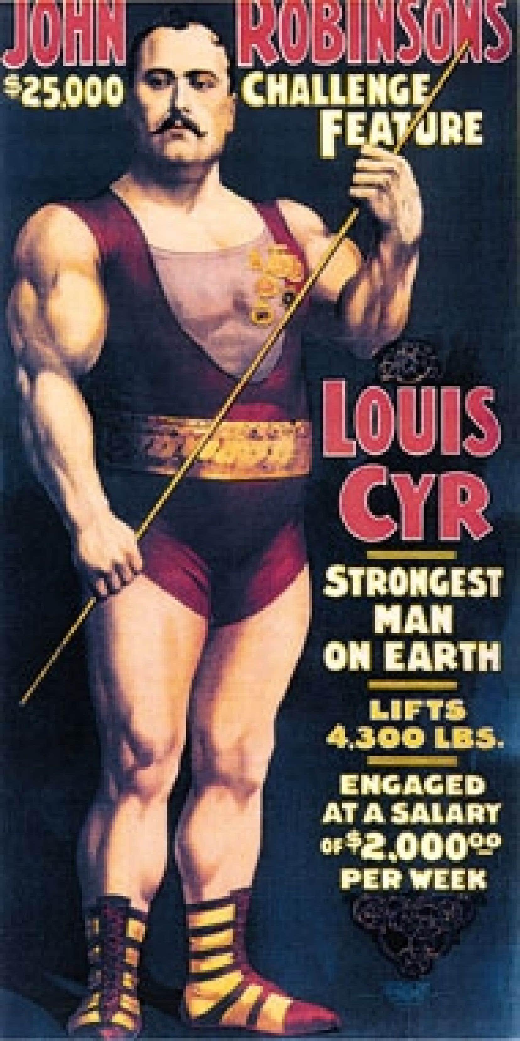 Une des affiches du John Robinson's Circus, réalisée vers 1898. Source: Collection Éric Murray