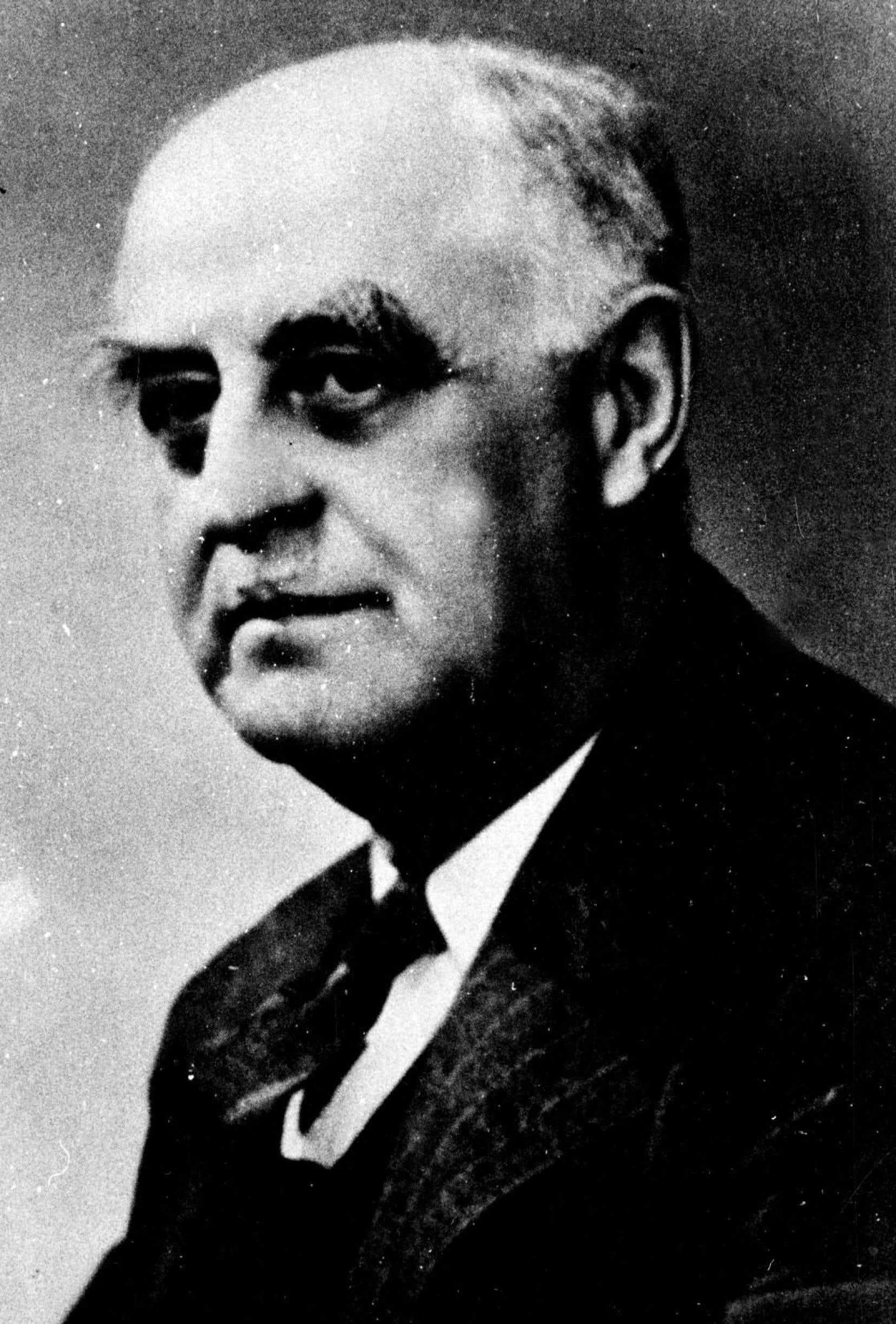 Le directeur-gérant du «Devoir», Georges Pelletier, en 1938