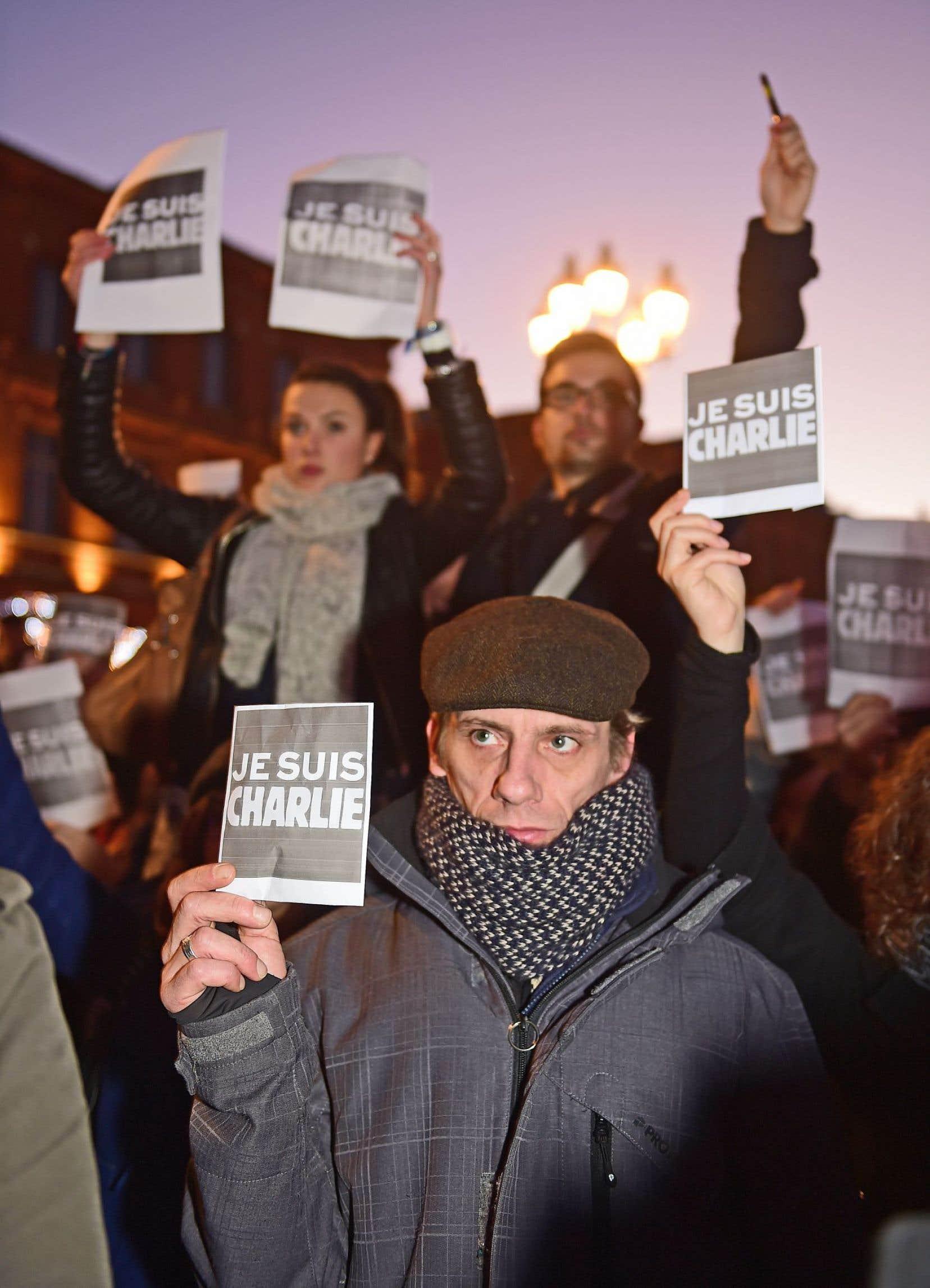 Une des nombreuses manifestations de solidarité avec Charlie Hebdo