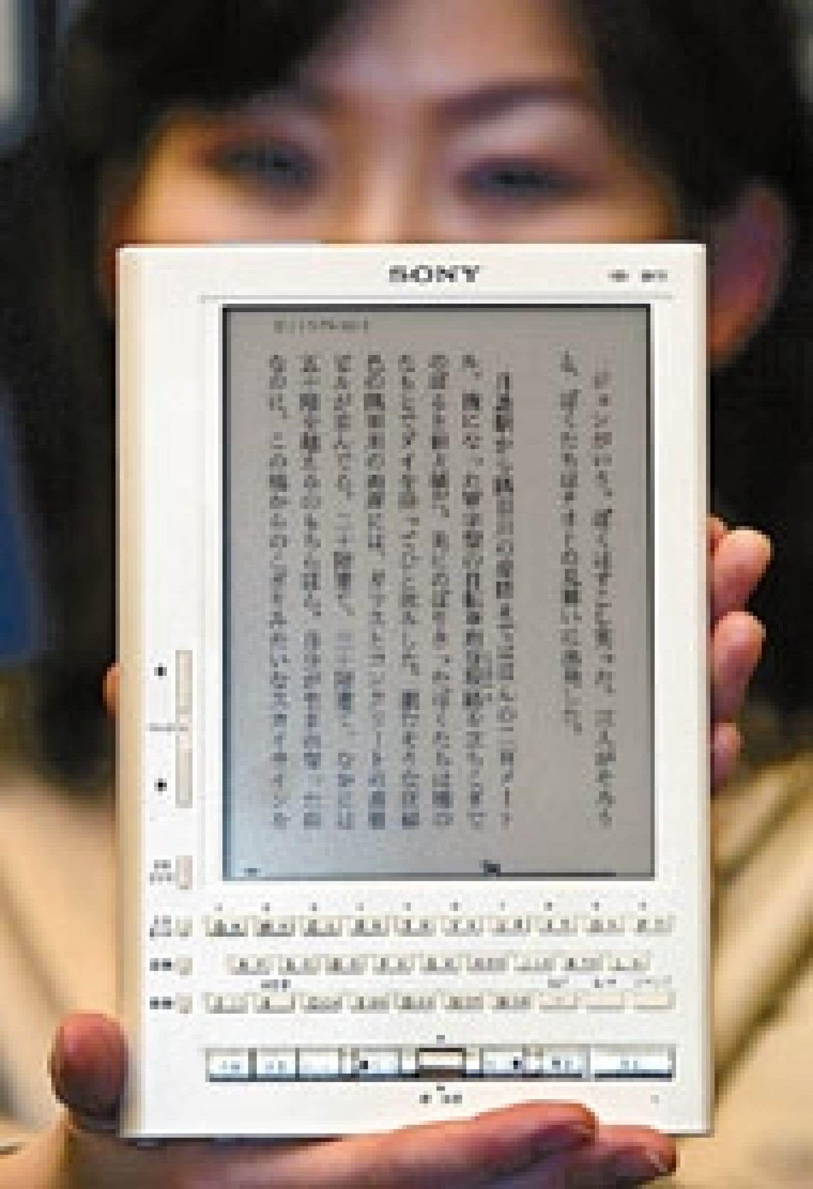 Le Librié de Sony (ci-dessus), vendu au Japon 42 000 yens (environ 505 $), ou le Ebook de Toshiba (480 $), les deux cas les plus sophistiqués, abritent les dernières percées de l'âge numérique.