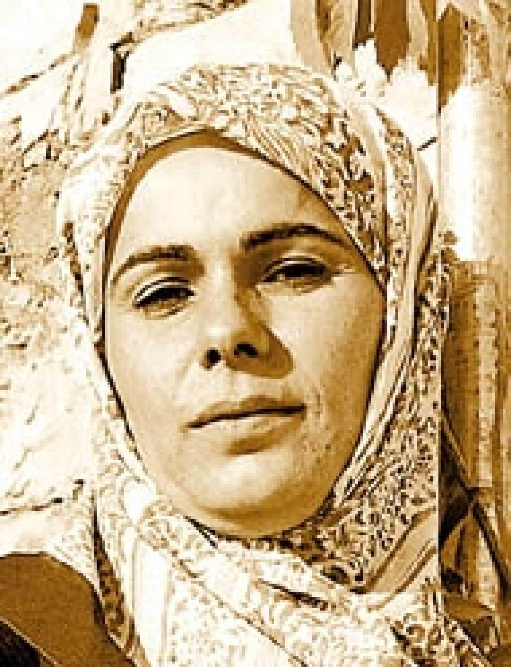 Atika Sleiman à Kfar Chouba, le 2 septembre 2000  Source: Josée Lambert