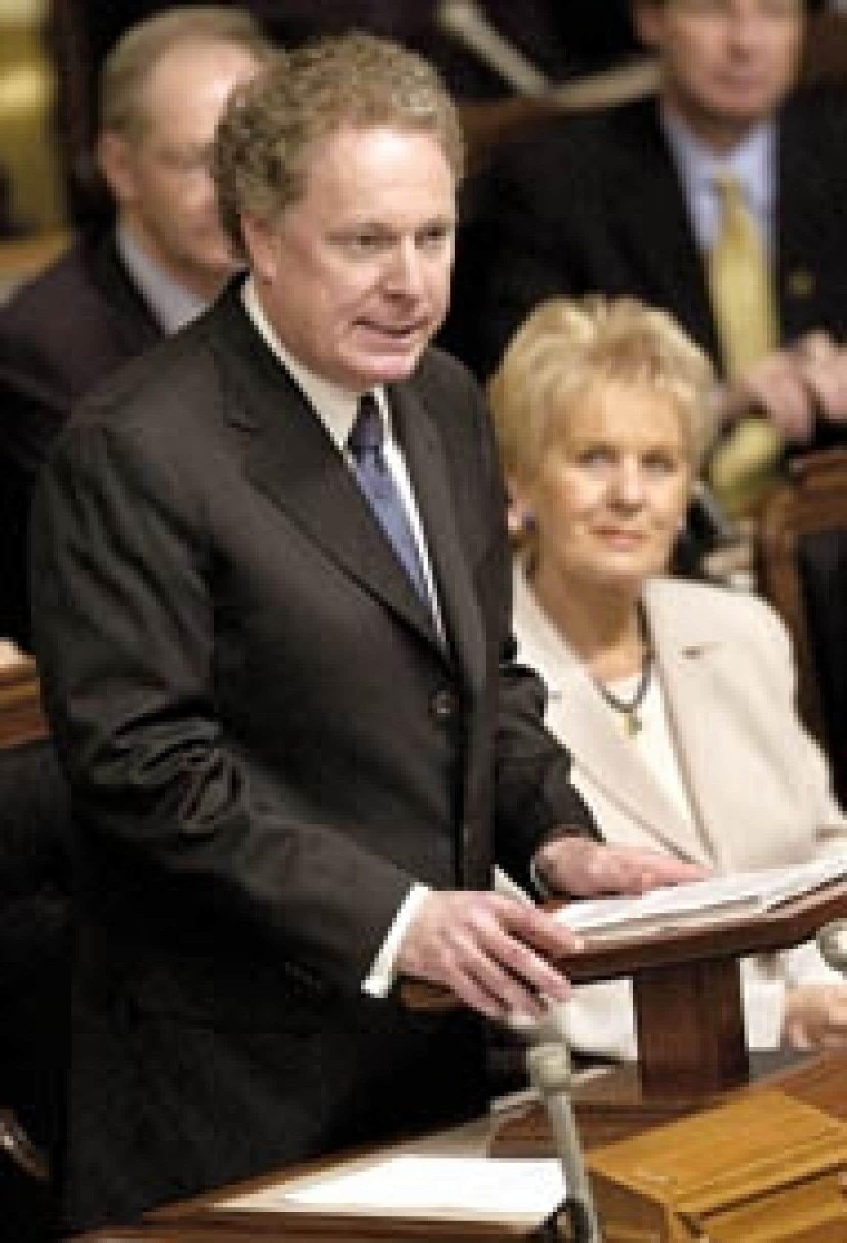 Le premier ministre Jean Charest a livré son premier discours inaugural, le premier des libéraux depuis neuf ans.