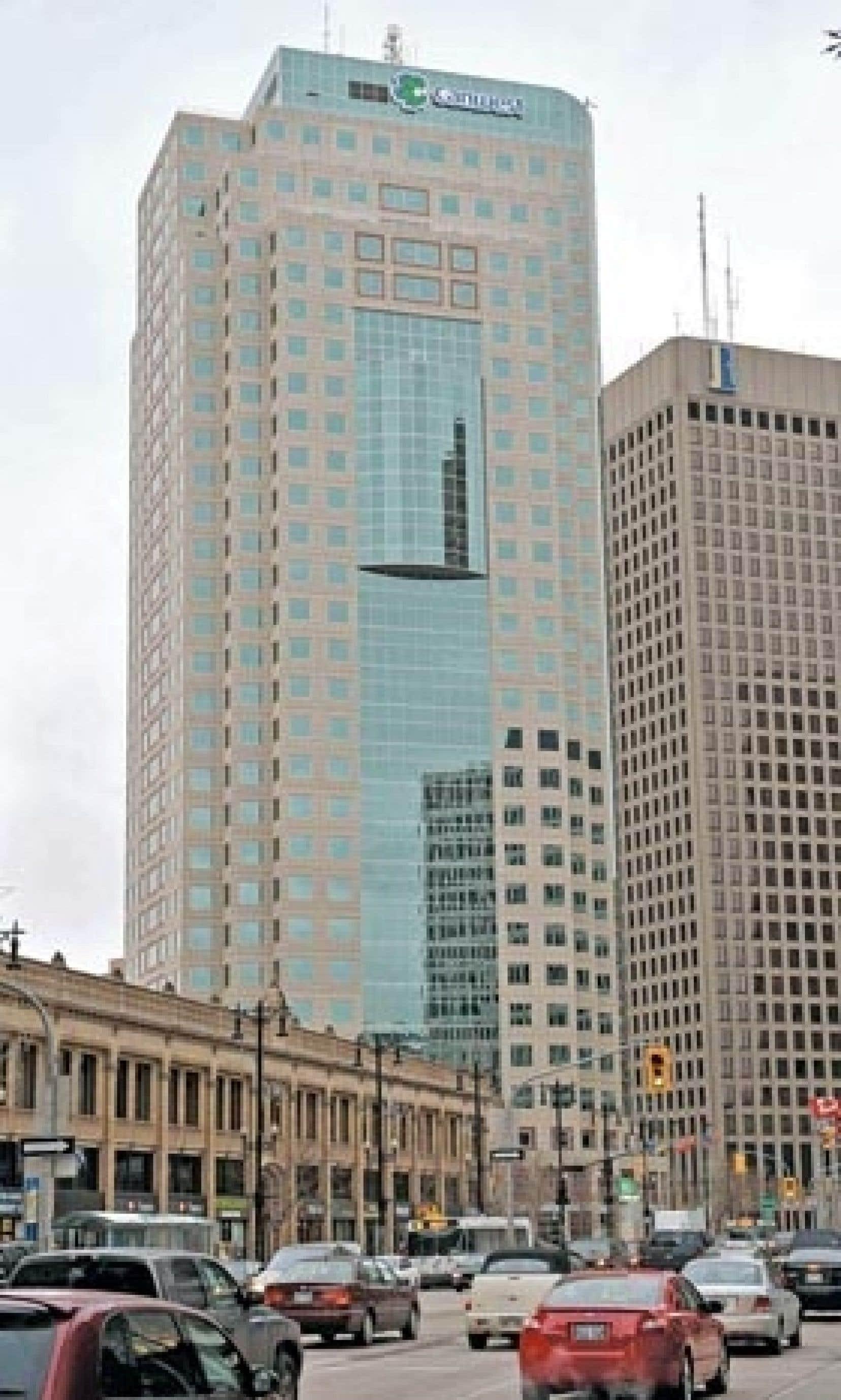 L'édifice Canwest Place à Winnipeg