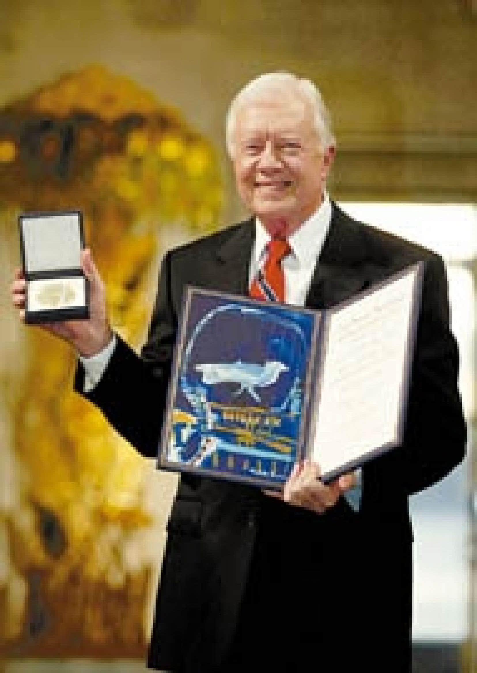 Jimmy Carter a reçu son prix Nobel de la paix hier à Oslo.