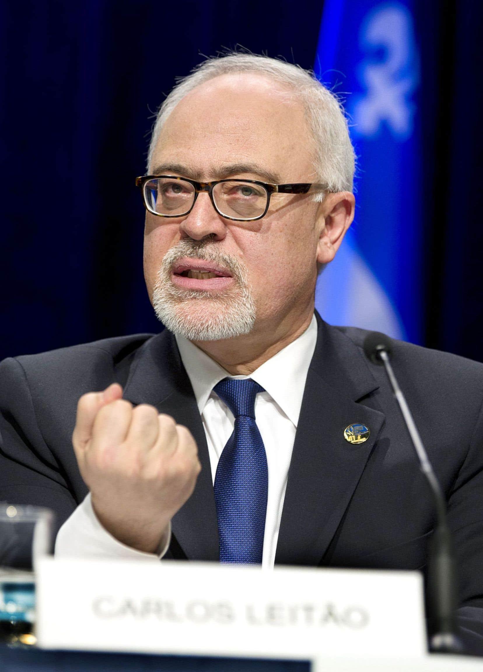 Le ministre québécois des Finances, Carlos Leitão