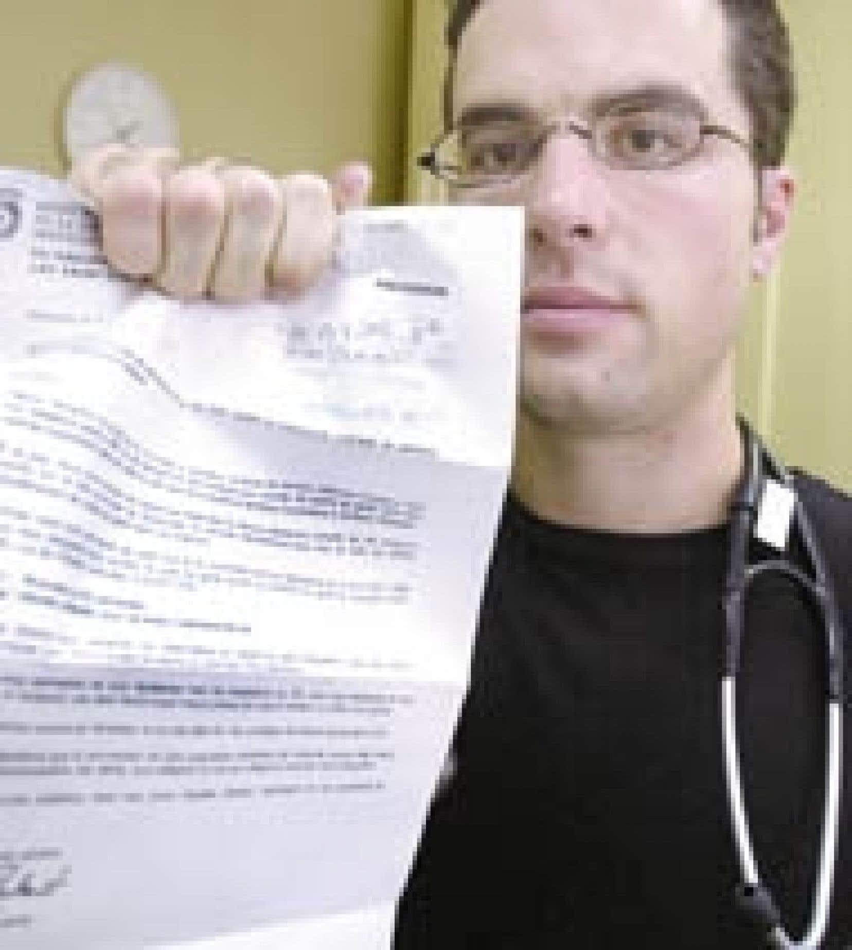 «Ce qui est offusquant, c'est qu'on ne m'ait même pas appelé pour discuter de mes disponibilités», dit le Dr Martin Loranger.