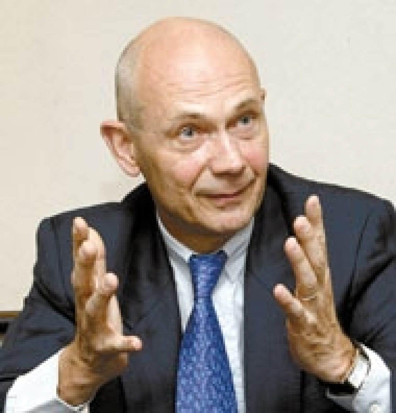 L'ancien commissaire européen au Commerce, le Français Pascal Lamy, au cours de l'entretien qu'il a accordé hier au Devoir.