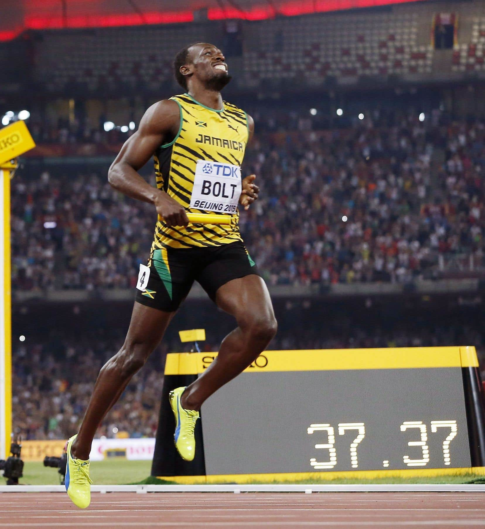 Usain Bolt a remporté trois médailles d'or en août aux Mondiaux de Pékin.