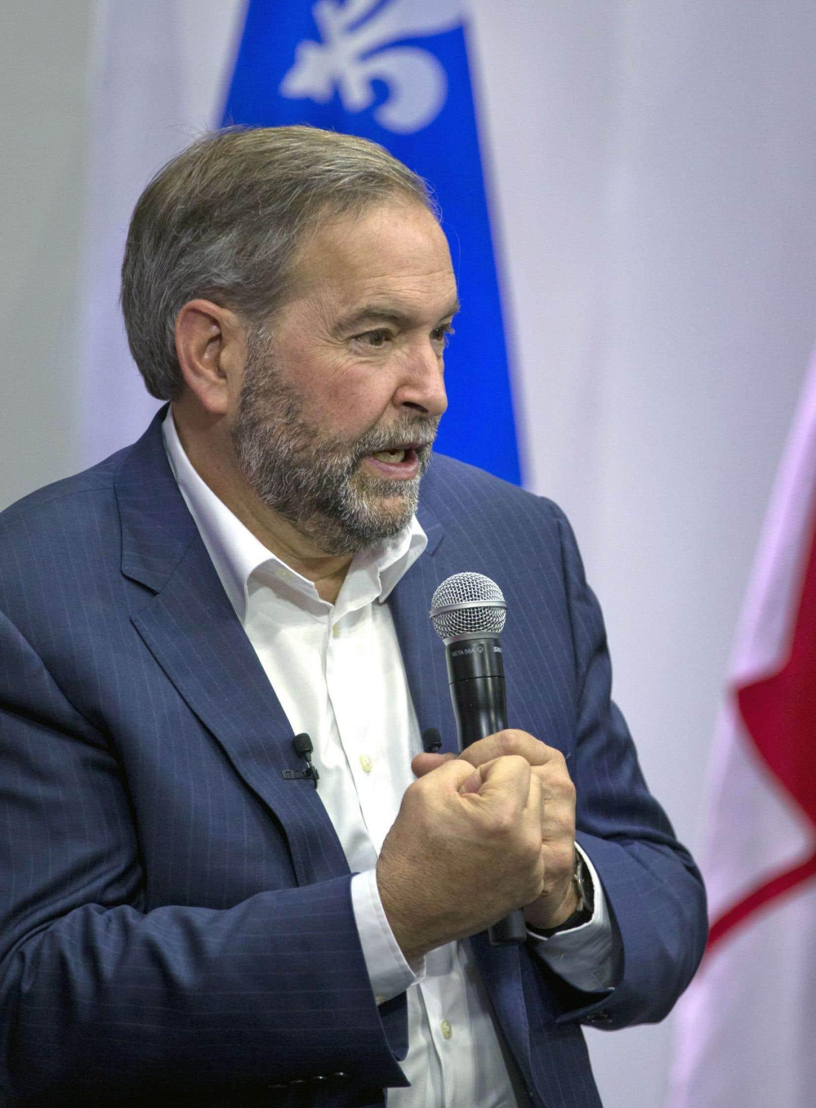 Thomas Mulcair a présenté Justin Trudeau comme la copie de Stephen Harper.