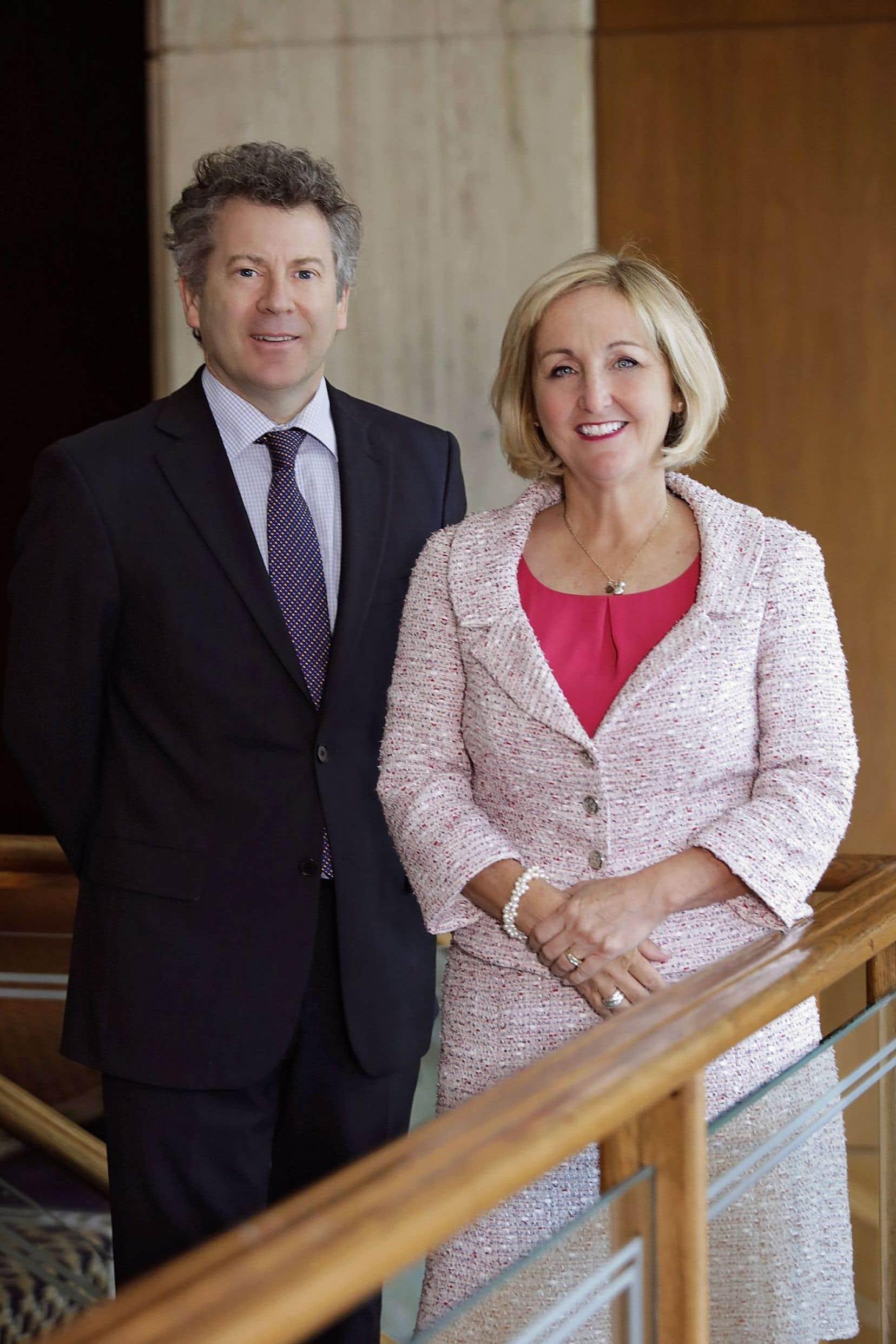 Jean-François Thuot et Diane Legault, respectivement directeur général et présidente du CIQ