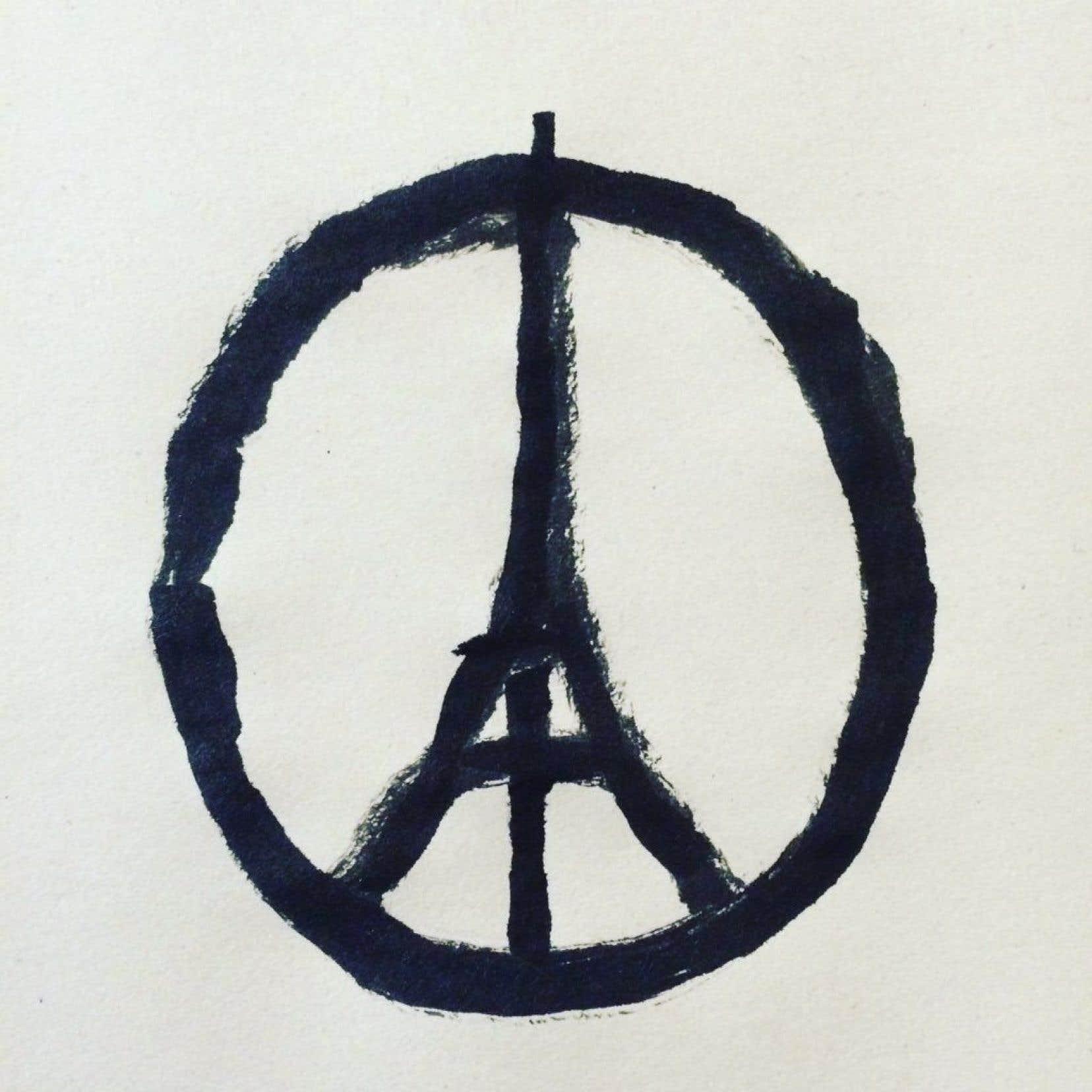 Le symbole «Peace for Paris»