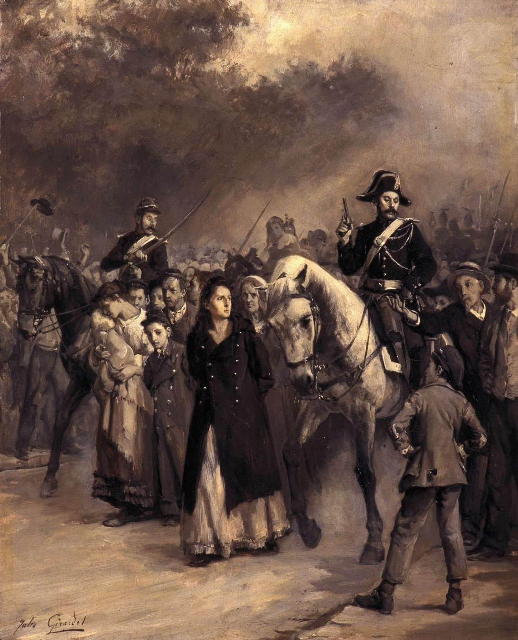 Louise Michel lors de son arrestation en mai 1871