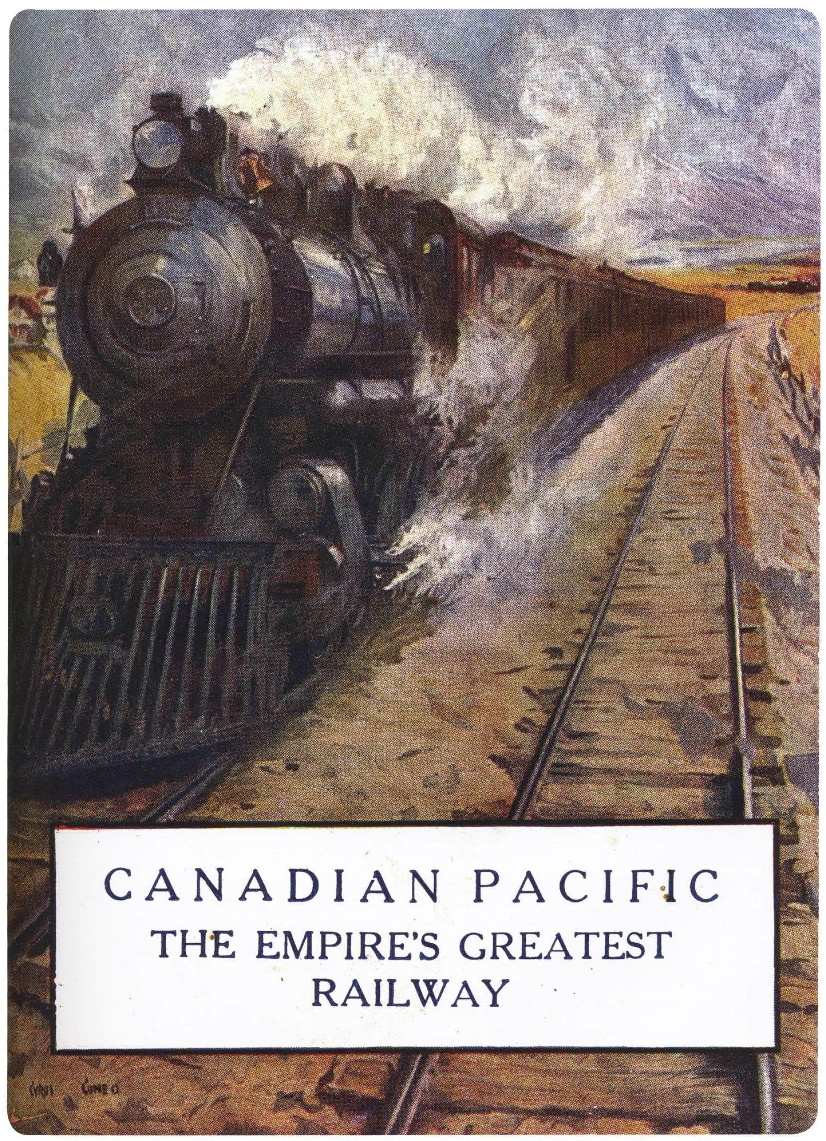 Carte postale tirée de l'une des premières affiches du Canadien Pacifique, vers 1913