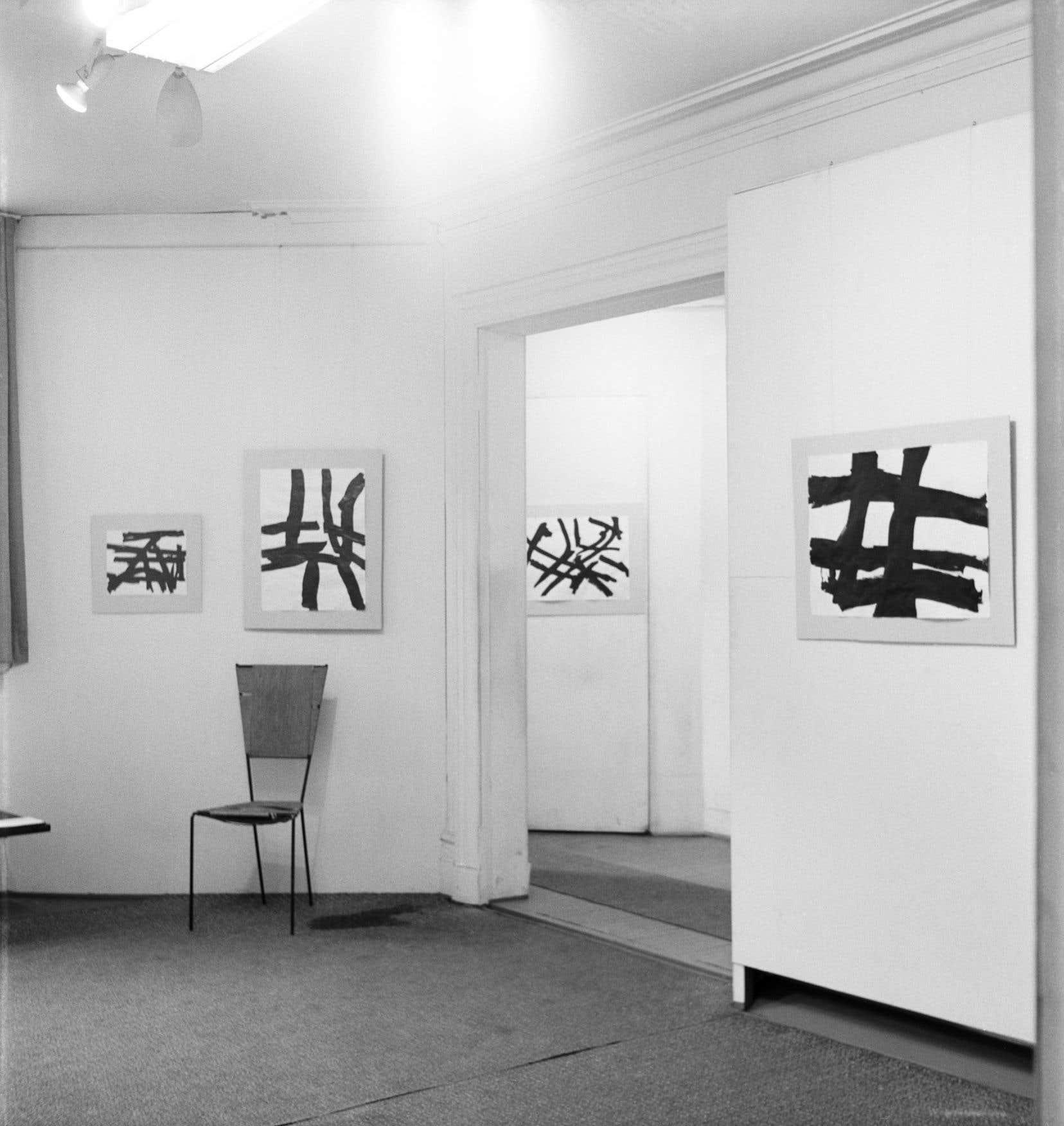 «Encres» de Guido Molinari à L'Actuelle lors du duo Molinari-Tousignant en mai1957