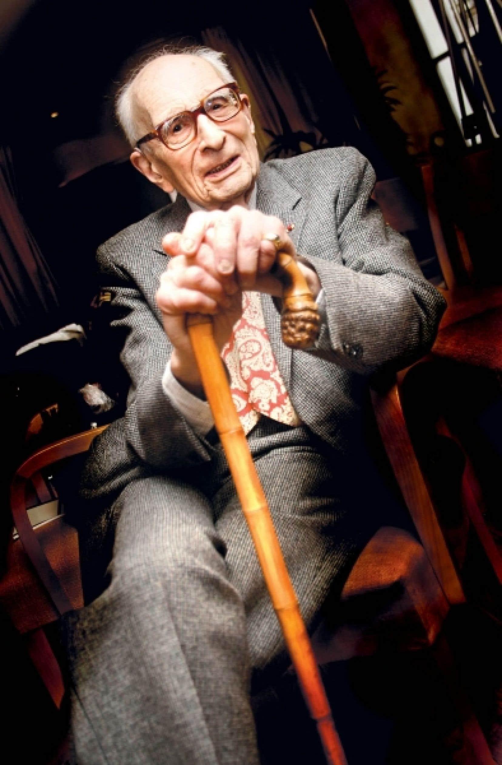 Claude Lévi-Strauss, photographié ici à Paris en 2005