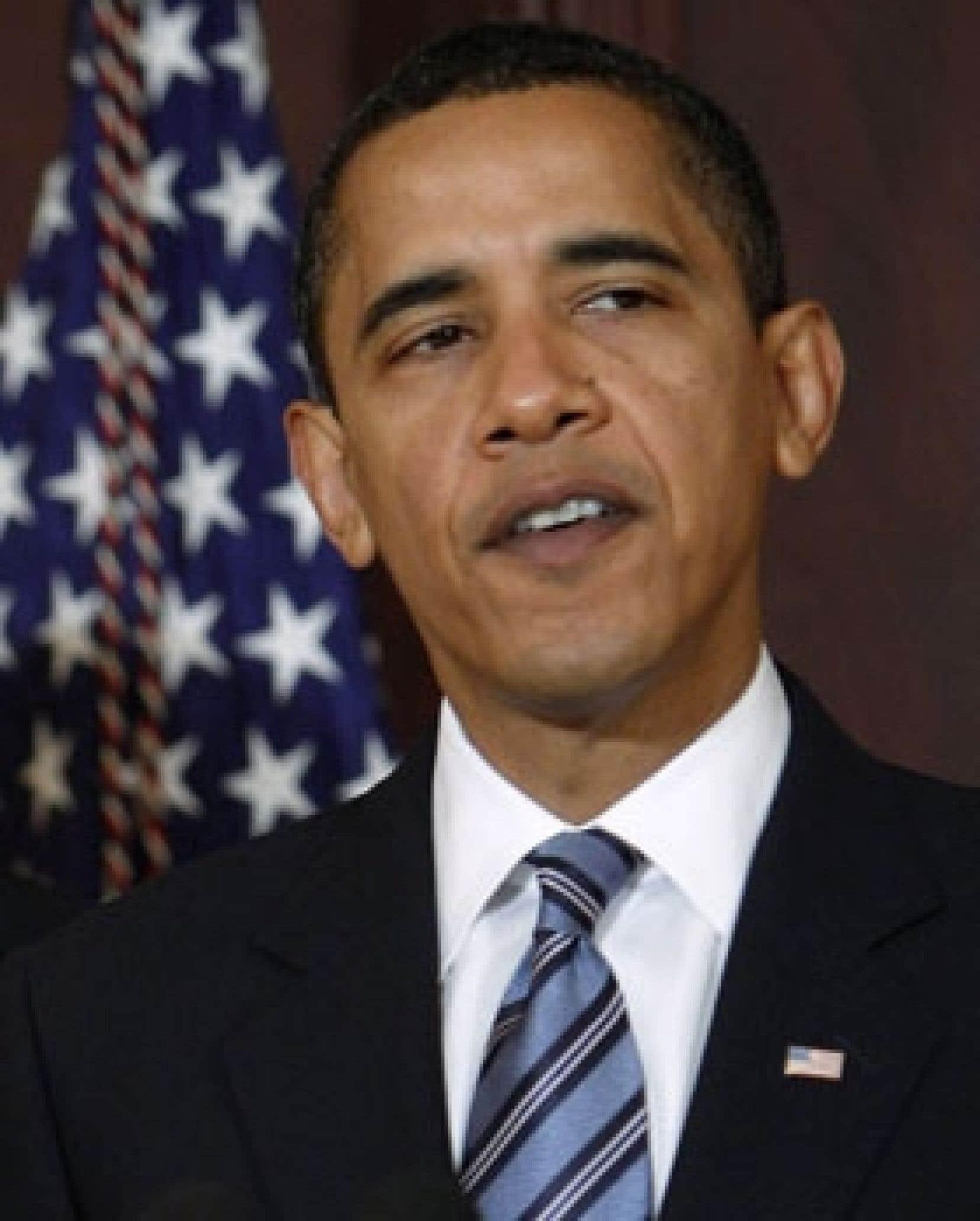 Le président des États-Unis, Barack Obama, a établi ses cibles de réduction des émissions de GES.