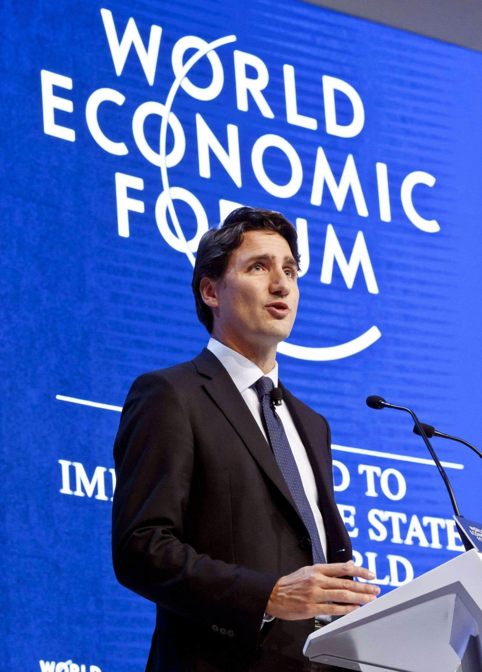 Justin Trudeau à Davos: «Les Canadiens savent toutefois que la croissance et la prospérité ne tiennent pas seulement à ce qui se trouve sous nos pieds, mais surtout à ce que nous avons entre les oreilles. »