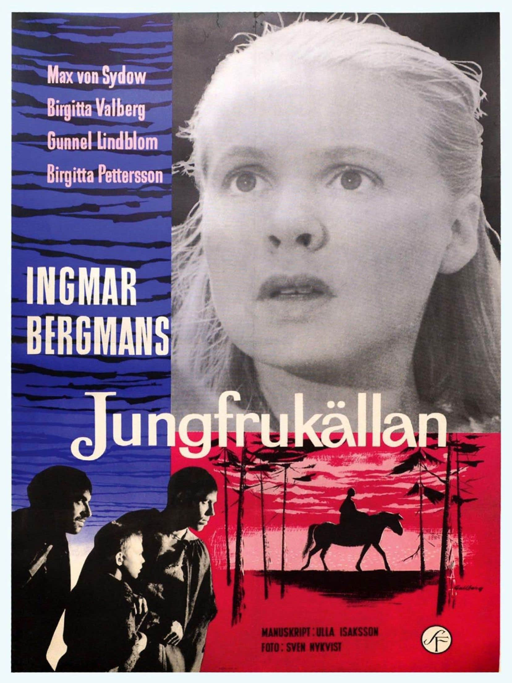 Affiche originale du film «La source», d'Ingmar Bergman
