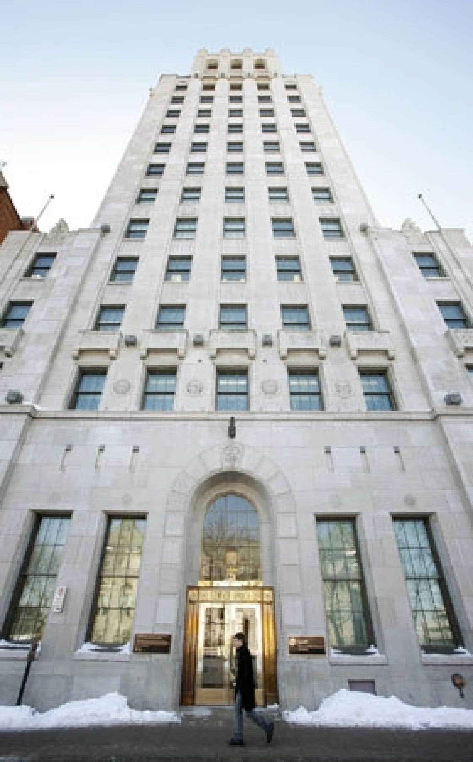 L'édifice Price, à Québec, où loge la Caisse de dépôt et placement