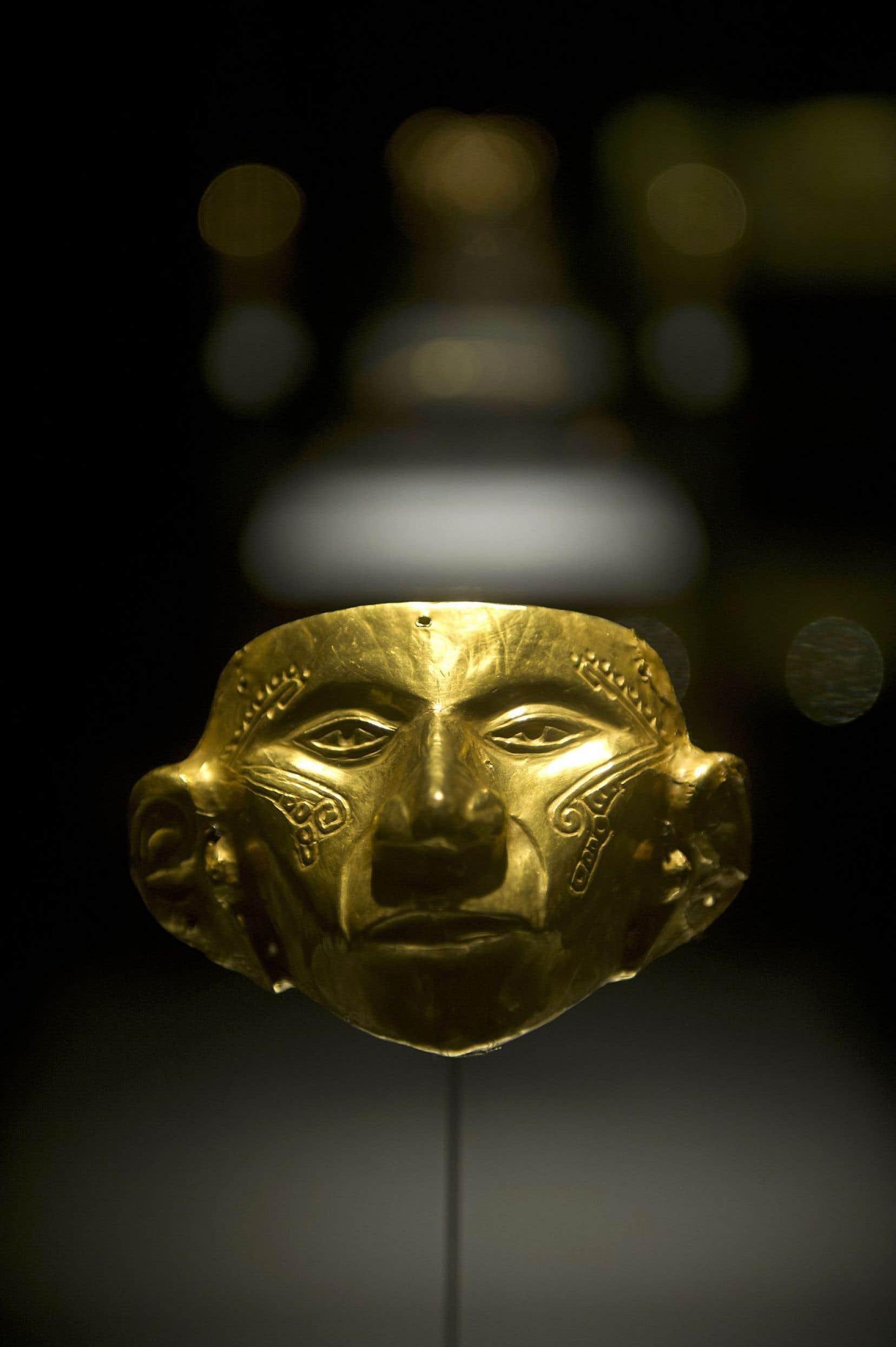 Une pièce du Musée de l'or à Bogotá. L'exposition permanente y raconte de quelle façon l'or et d'autres métaux furent utilisés par les sociétés préhispaniques, qui vécurent dans ce qui est aujourd'hui la Colombie, avant les contacts avec l'Europe.