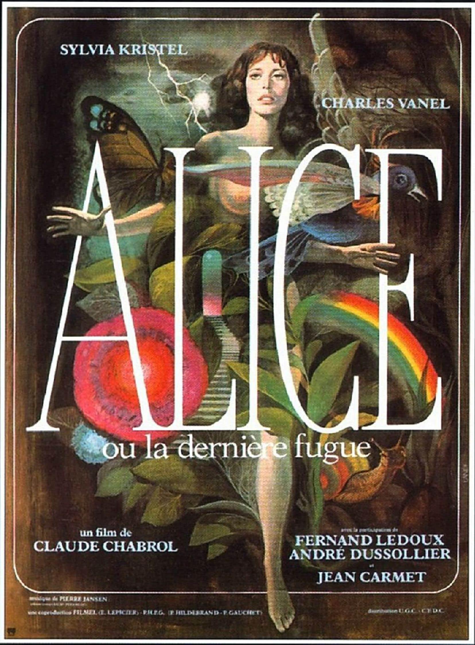 Affiche originale d'«Alice ou la dernière fugue», de Claude Chabrol, créée par Michel Landi