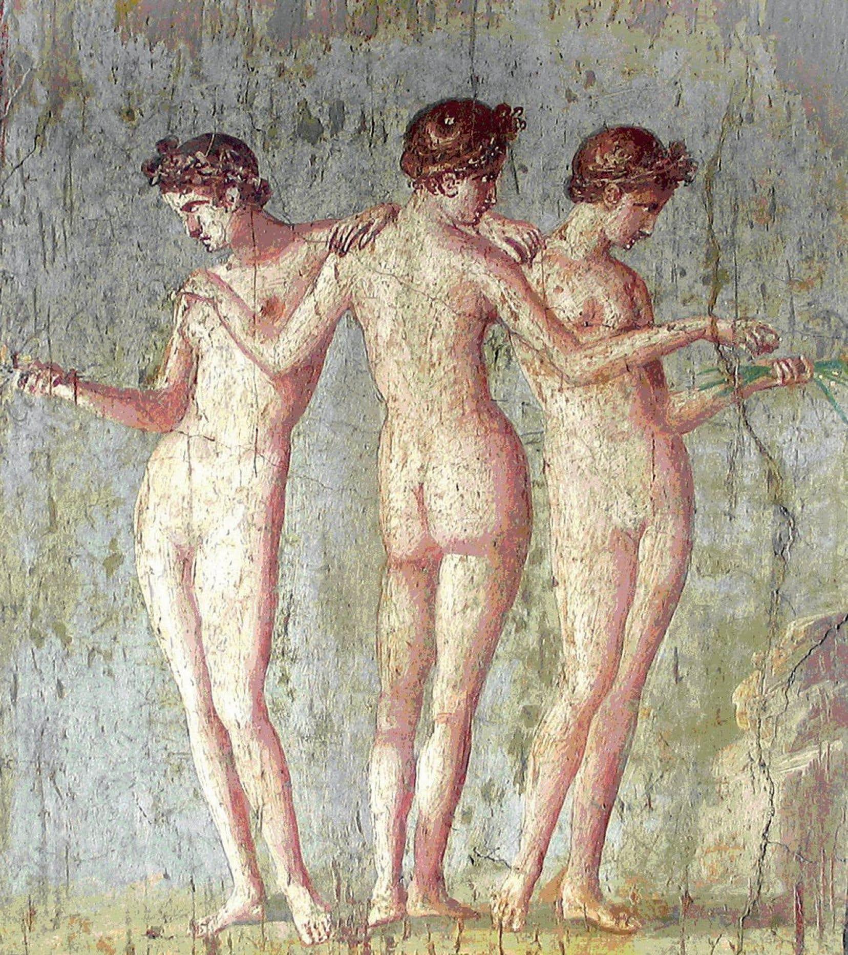 Fresque représentant les Trois Grâces