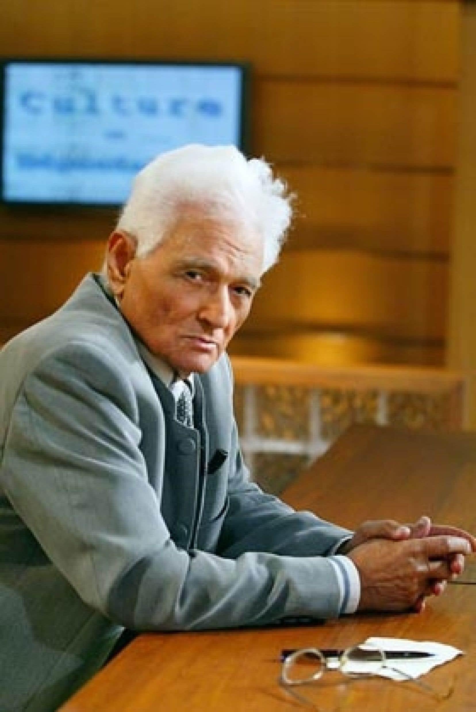 Le philosophe français Jacques Derrida