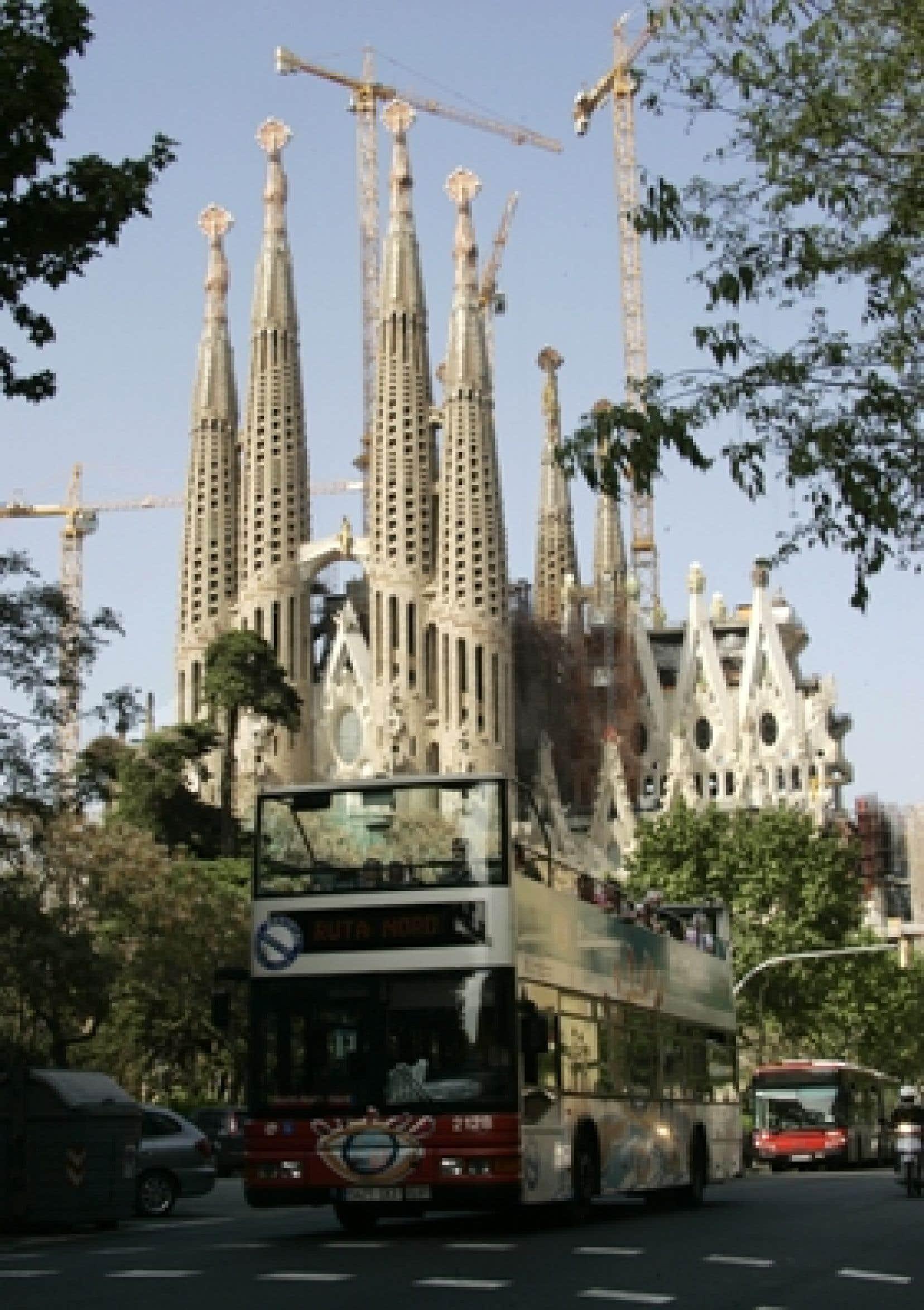 L'église Sagrada de Barcelone.