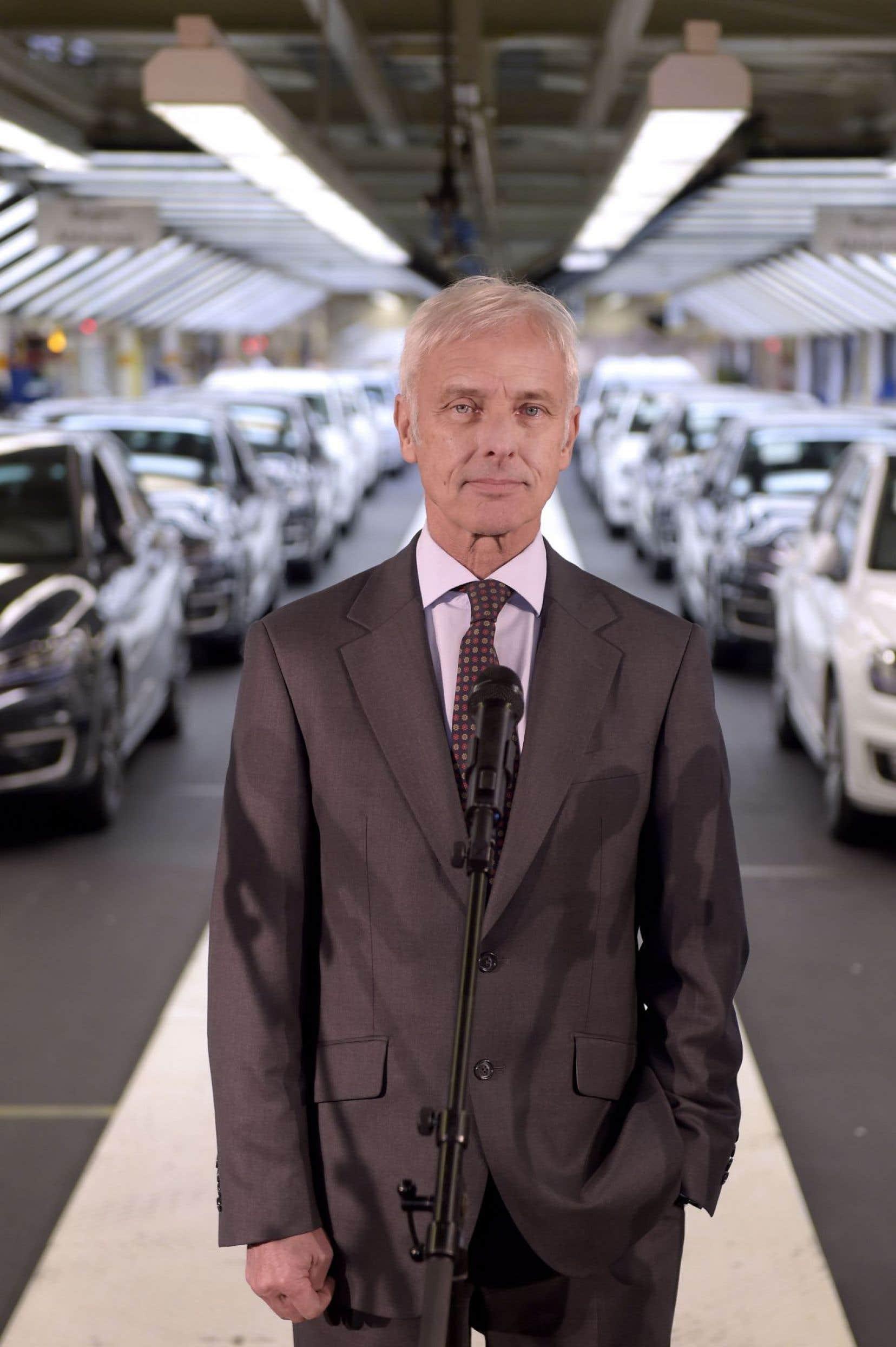 Matthias Müller a pris la direction de Volkswagen après le scandale qui a ébranlé le géant allemand de l'automobile.